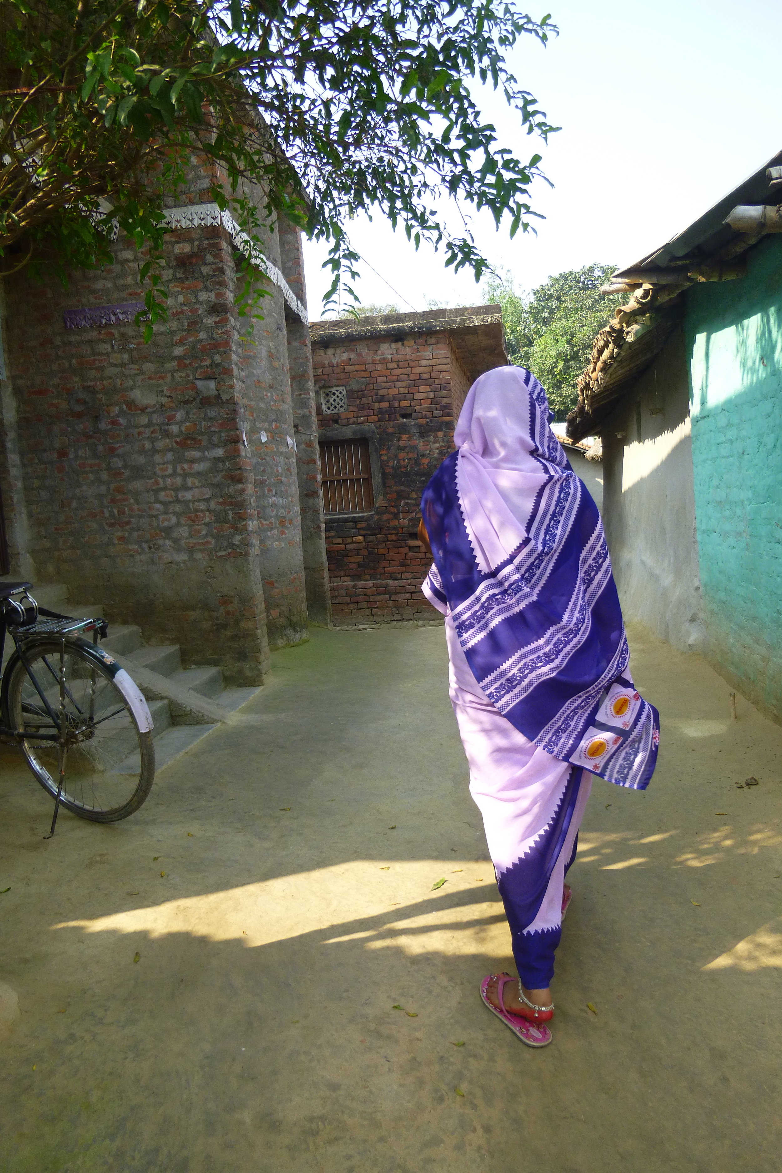 When Rita took the position of village nurse (Asha), she was too nervous to go even a few streets away without her husband. - Photo by Sarah K.