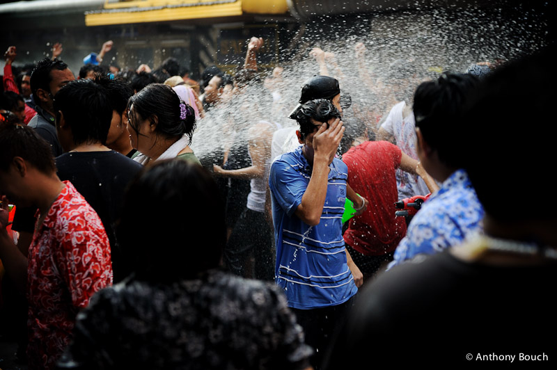 Songkran, or Thai New Year, is known best for the huge water fights that take place in cities and neighbourhoods all over the country - photo courtesy of  Anthony Bouch .
