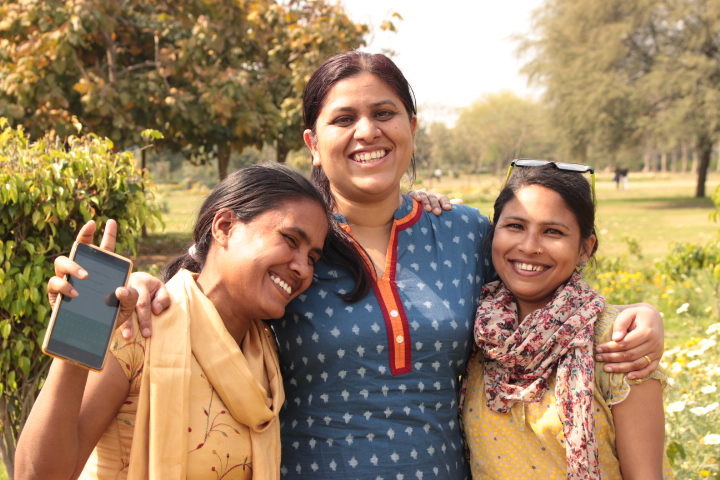 Geeta, Sheeba, and Sunita are learning together what it means to run a business after coming from more traditional ministry roles. - Photo courtesy of Kiran