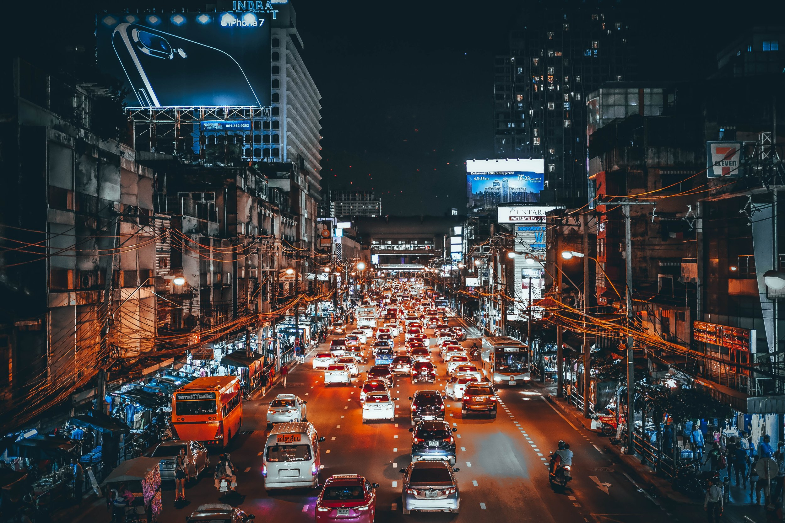 Bangkok's traffic is one of its defining features -one city dwellers and visitors alike bemoan - Photo courtesy of  Hanny Naibaho .