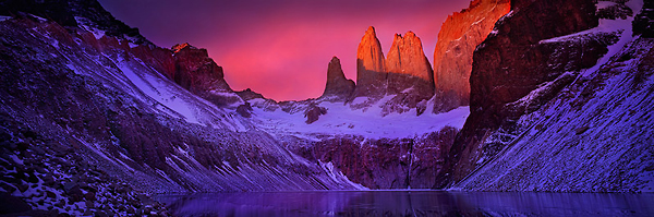 Alpenglow on the Torres del Paine, Chilean Patagonia.jpg