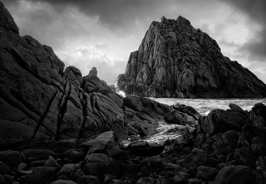 The mighty Sugarloaf Rock is such a striking formation. I thought black and white would serve it well.
