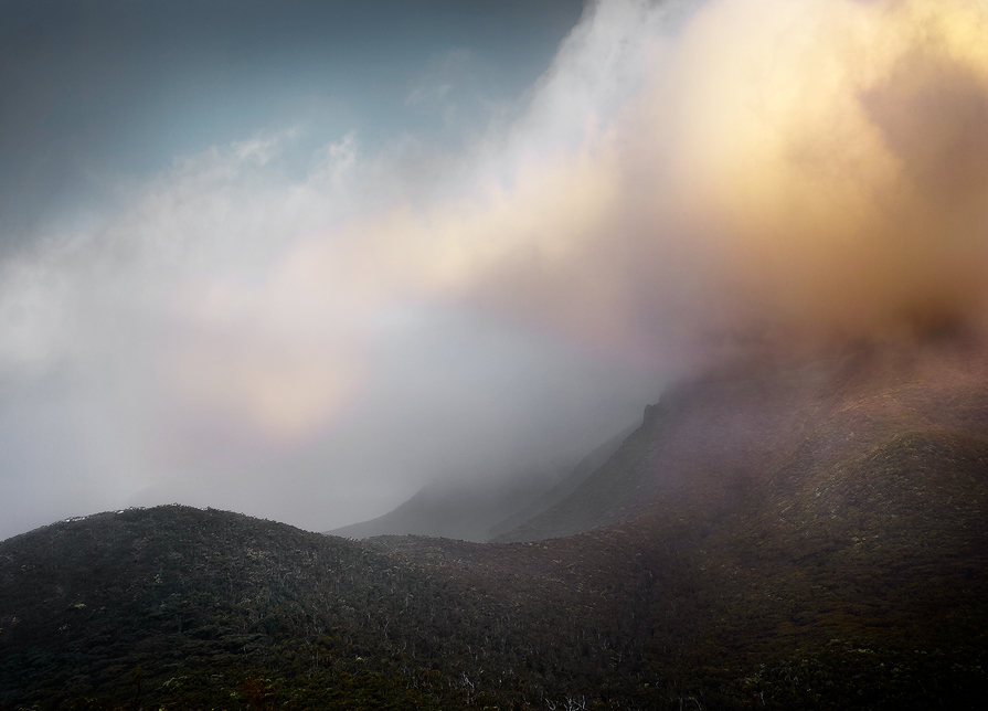 The microclimate of Bluff Knoll means you never know what you're going to get weather-wise. It can change in an instant, and does.