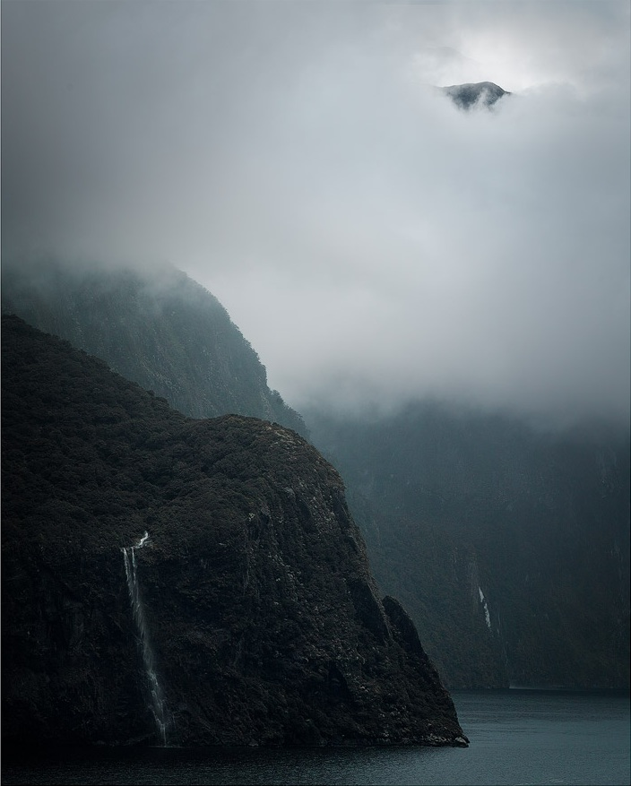Finding a way to show the scale of Milford Sound and its towering peaks can be difficult.
