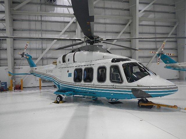 AW139 Exterior in Hangar