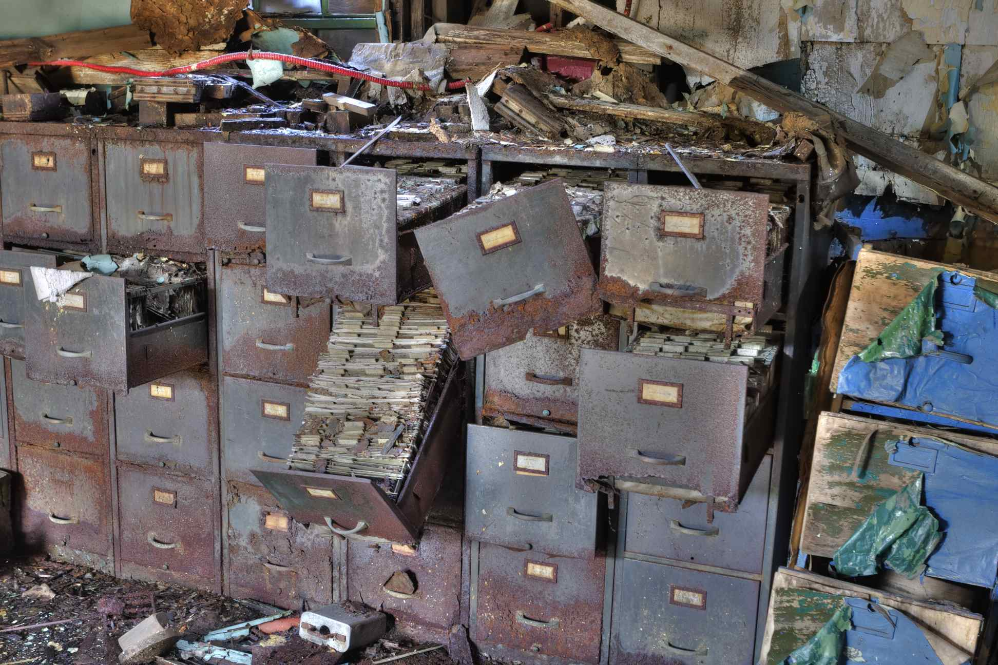 Fort Pitt Foundry: Dilapidated File Cabinets