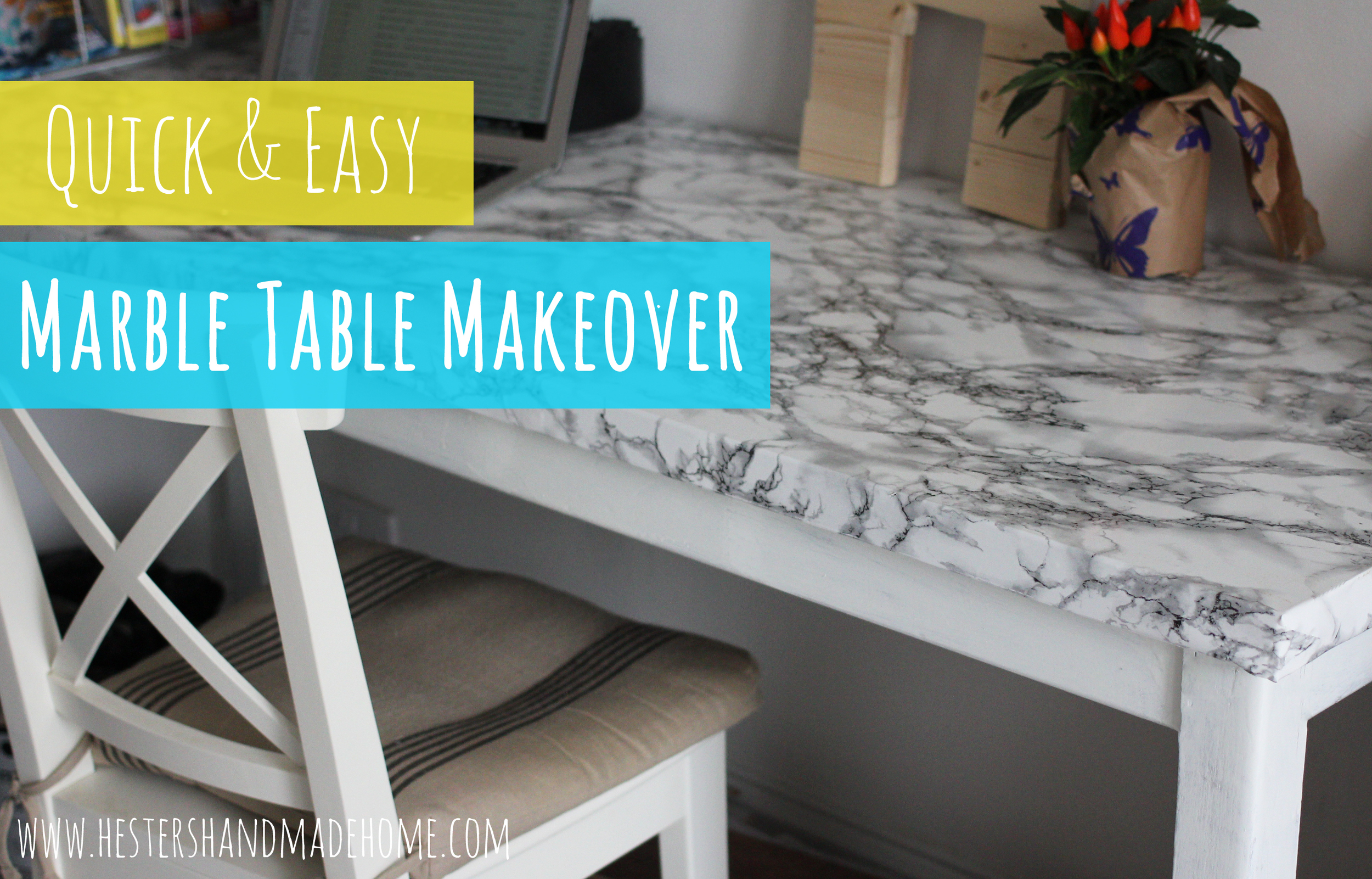 marble table makeover