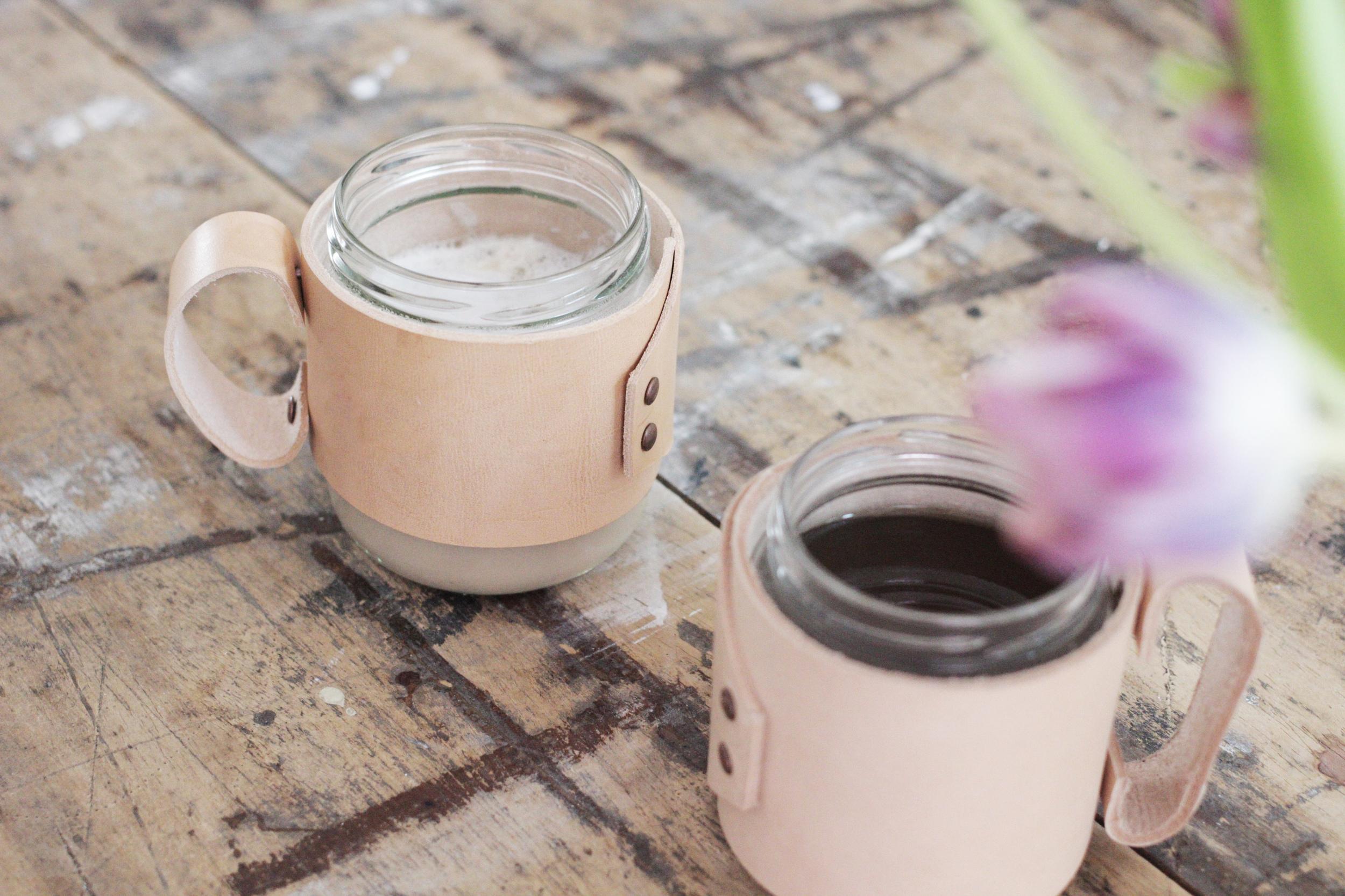 coffee cup jar upcycled jam jars