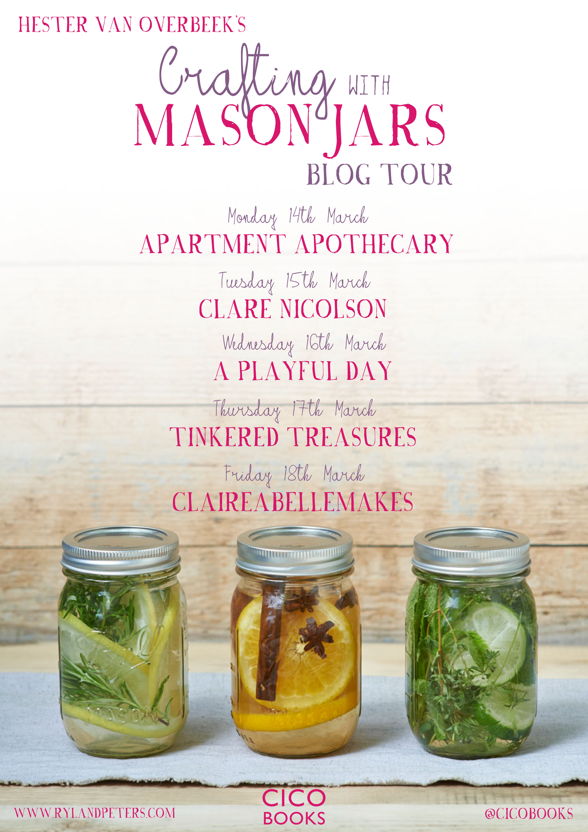 crafting with mason jars blog tour