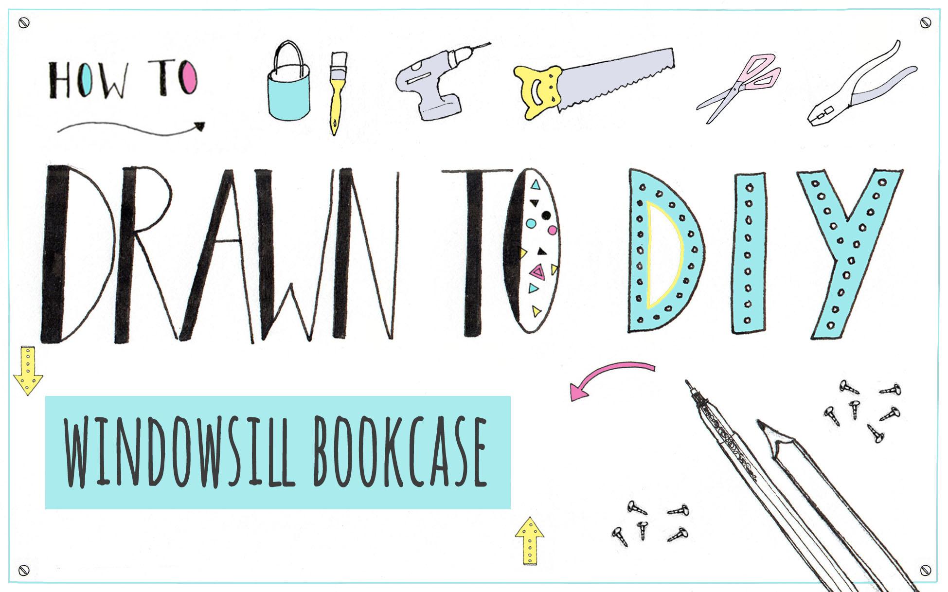 windowsill bookcase drawn to diy