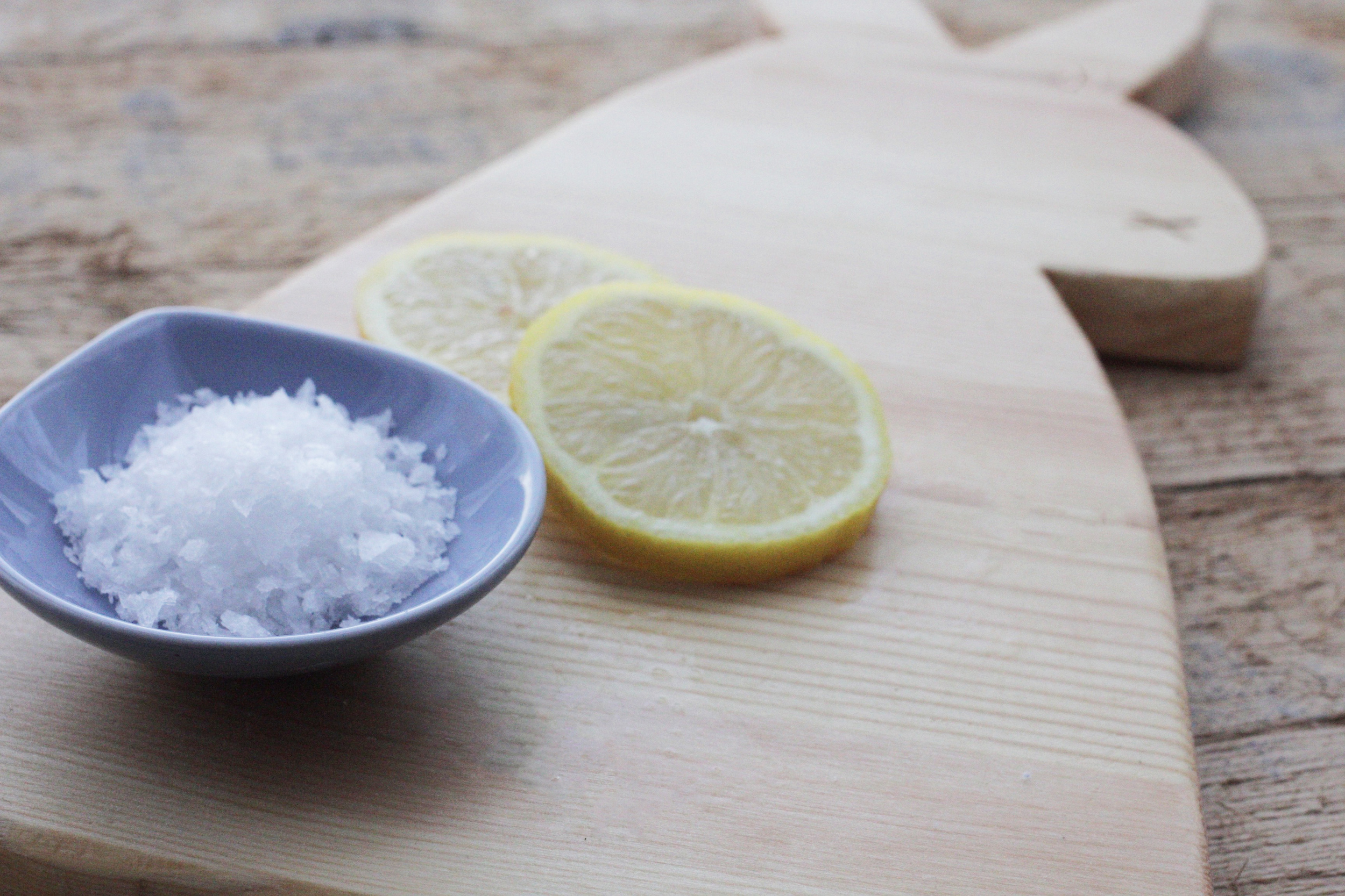 clean your chopping board with lemon and salt, chopping board diy by Hester's Handmade Home