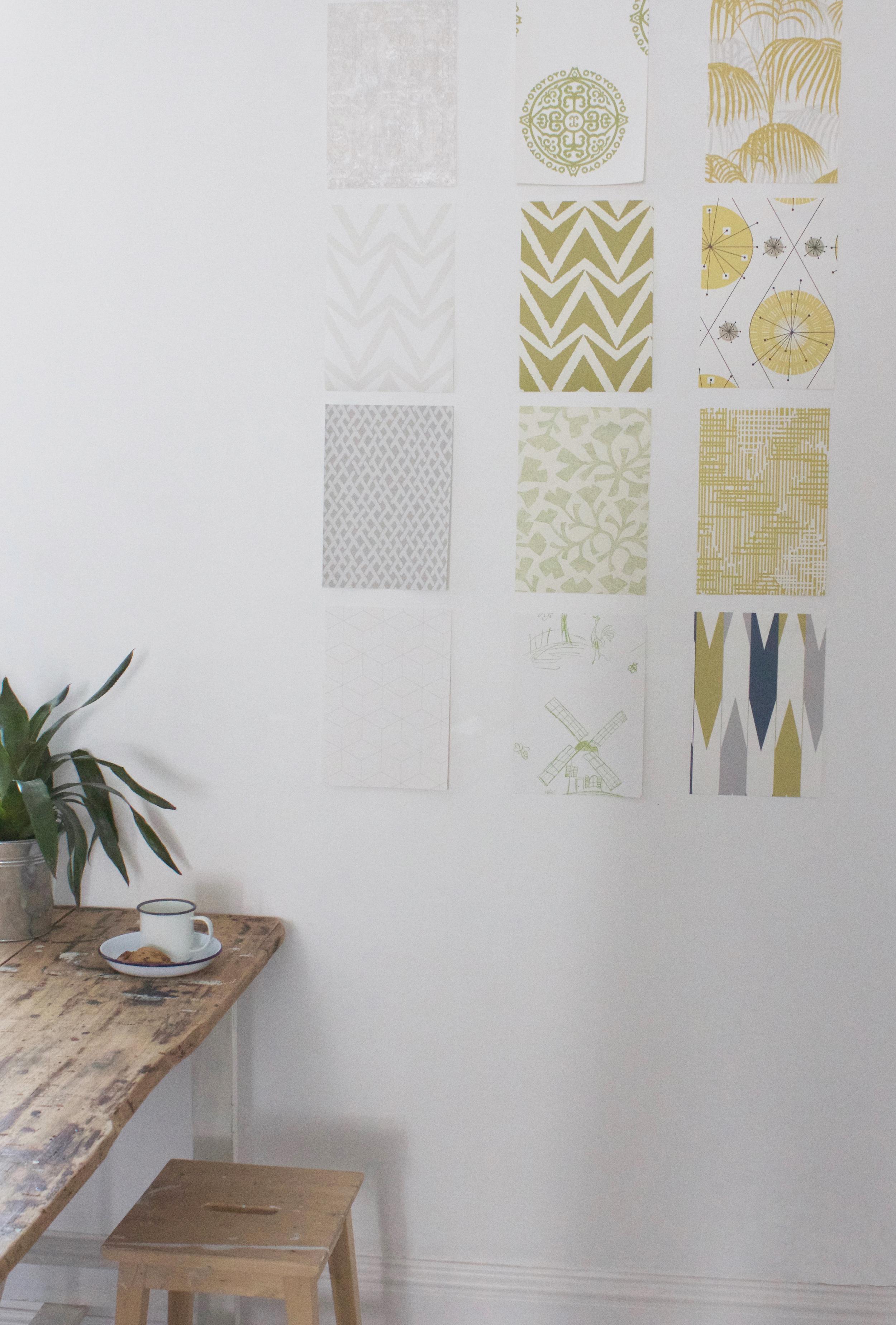 wallpaper samples wall art, tutorial by Hester's handmade home