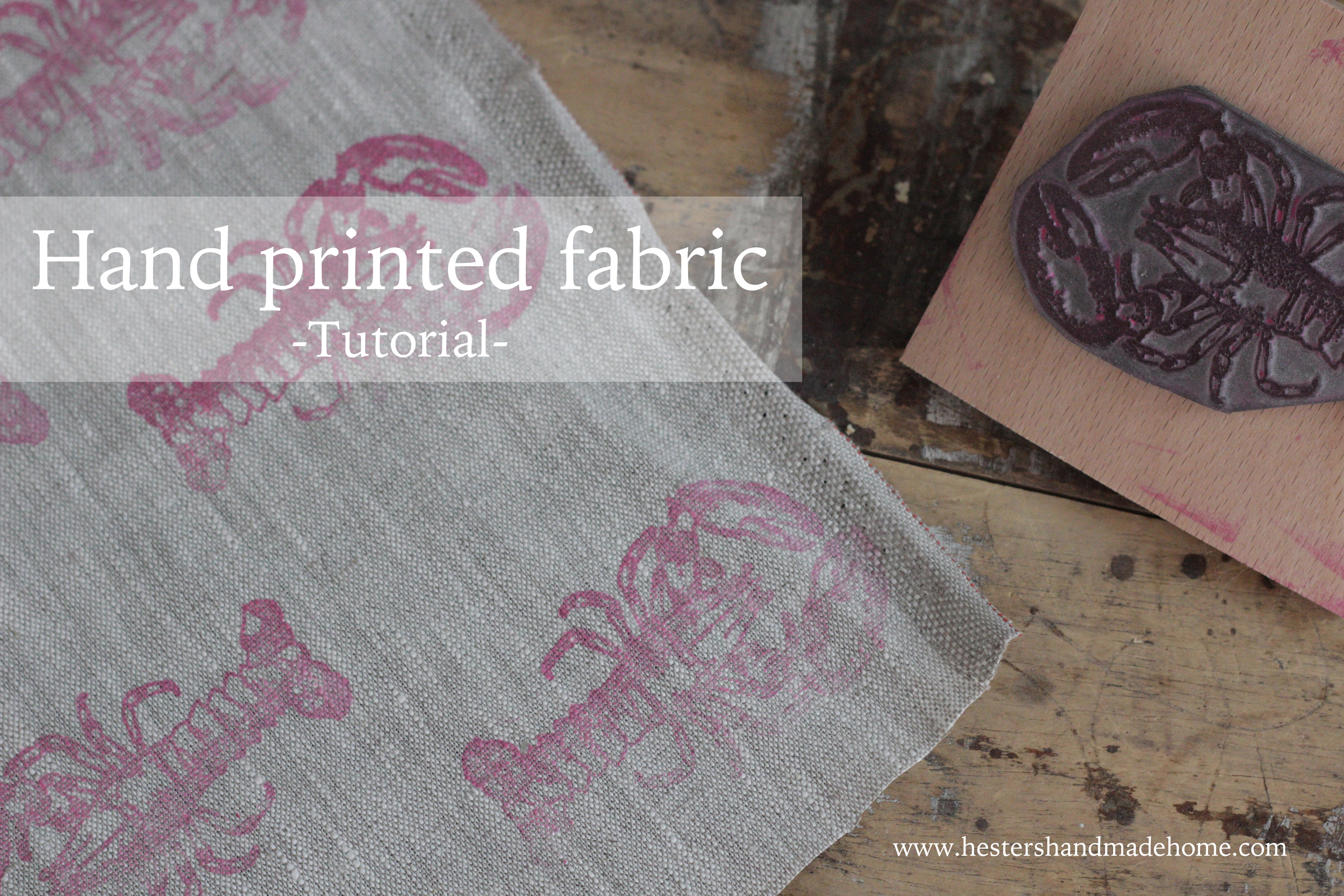 hand printed fabric tutorial by hester's handmade home