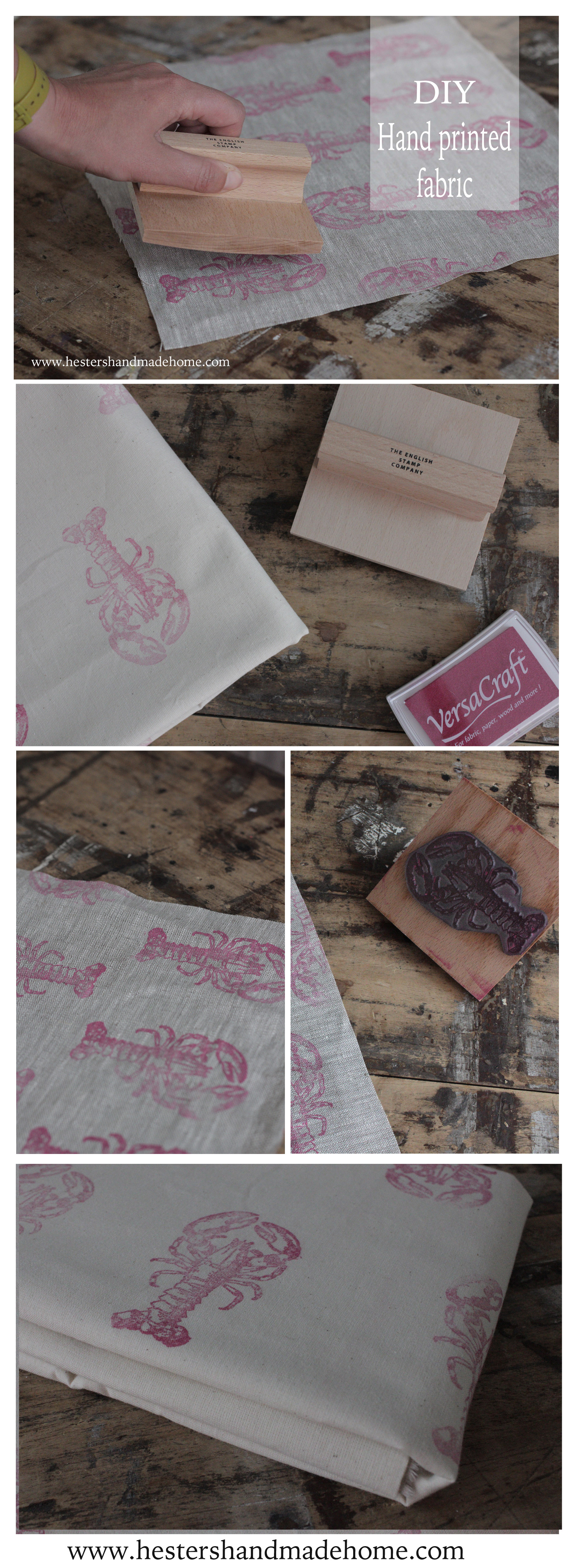 Print your own fabric, tutorial by Hester's handmade home