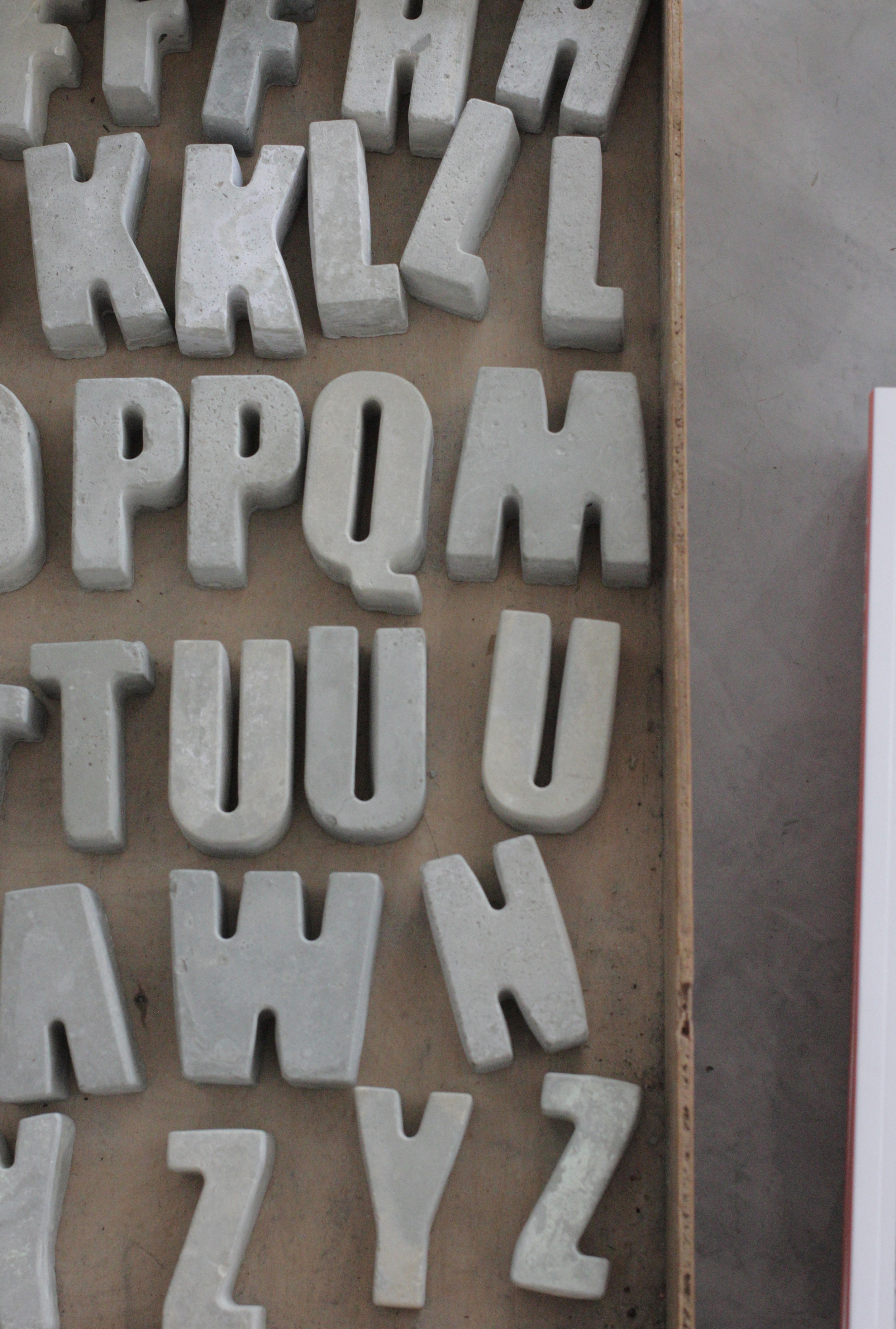 Etcetera in Margate, amazing lifestyle store. Love these concrete letters. Photo by www.hestershandmadehome.com