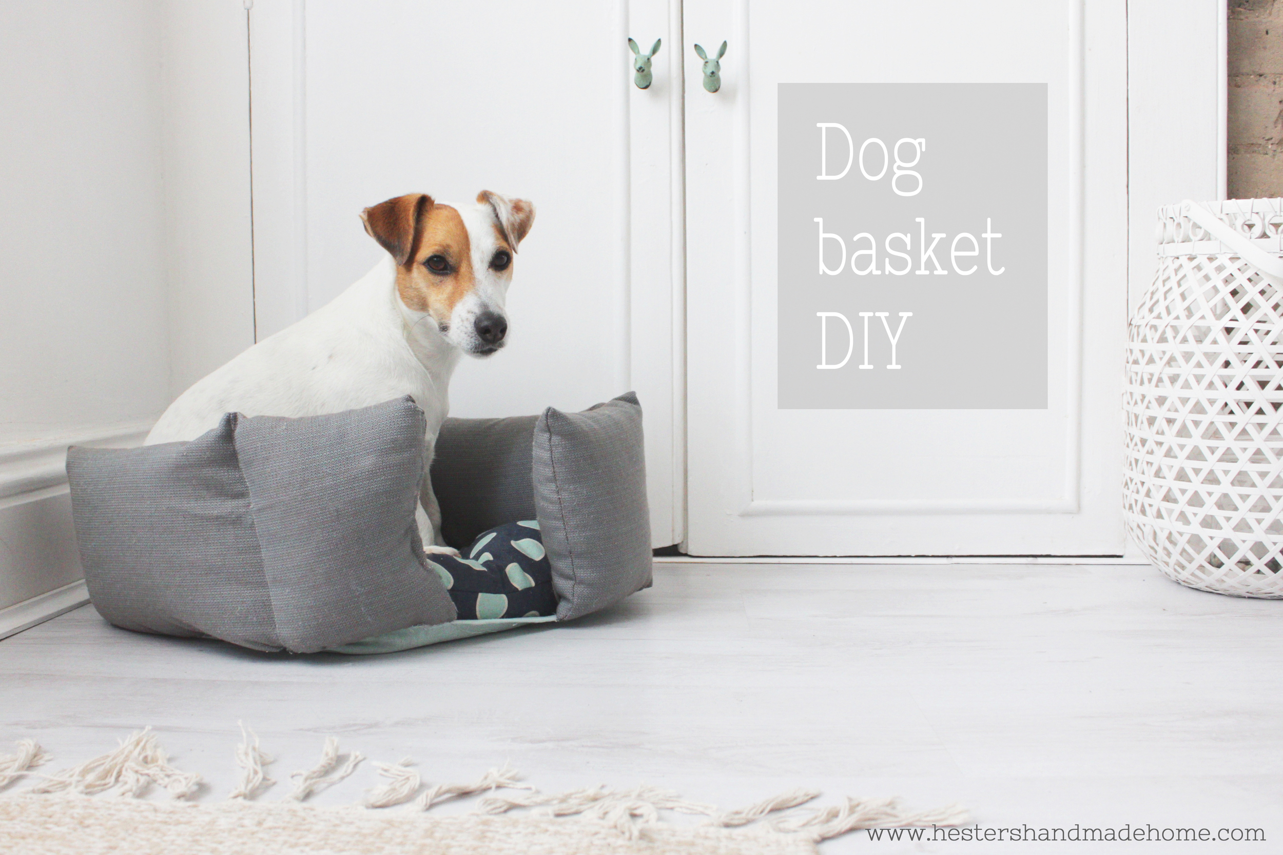 Upcycle a duvet into a great dog basket, tutorial by Hester's Handmade Home