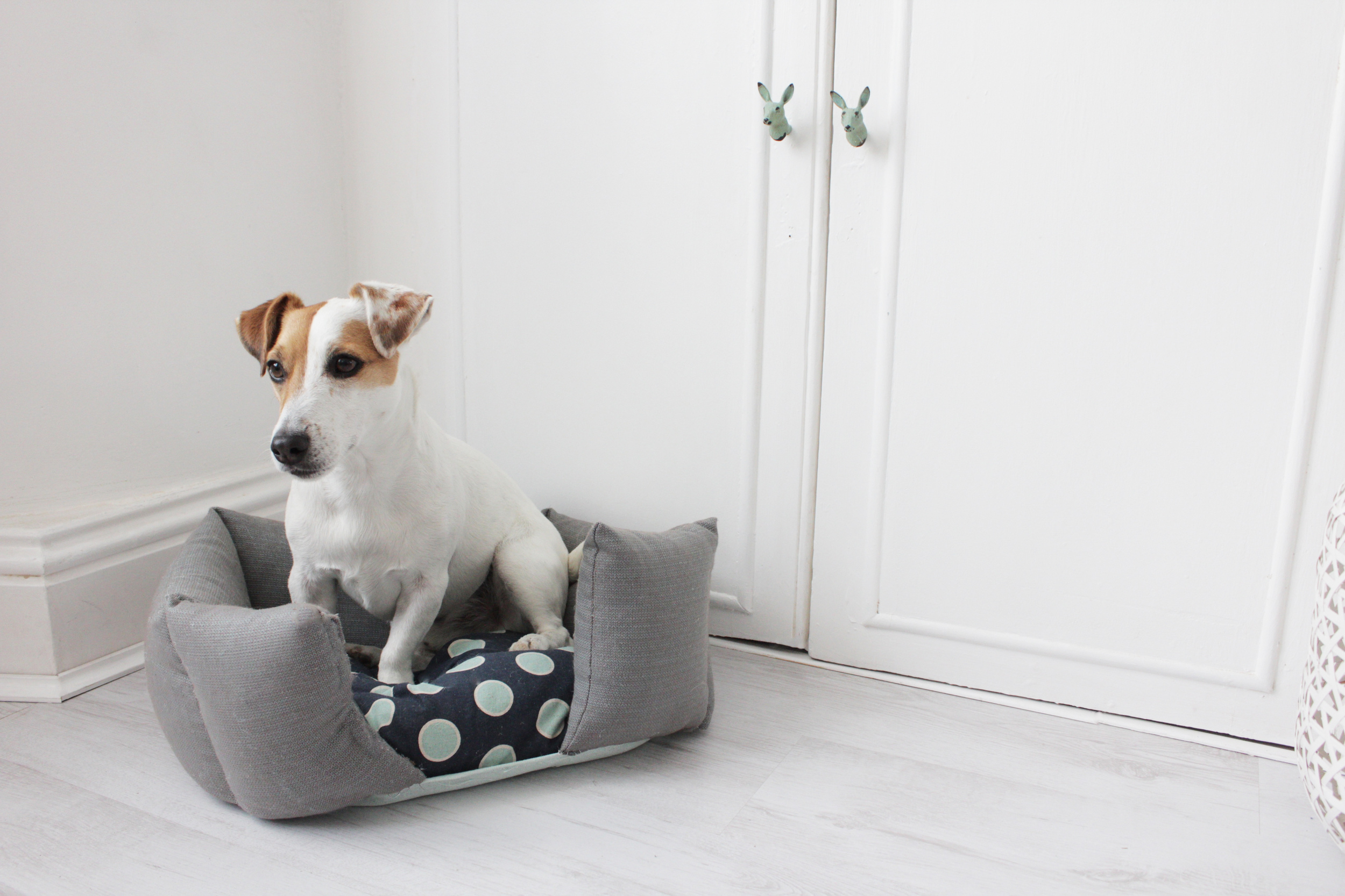 Upcycle a duvet into a dog bed, tutorial by Hester's Handmade Home