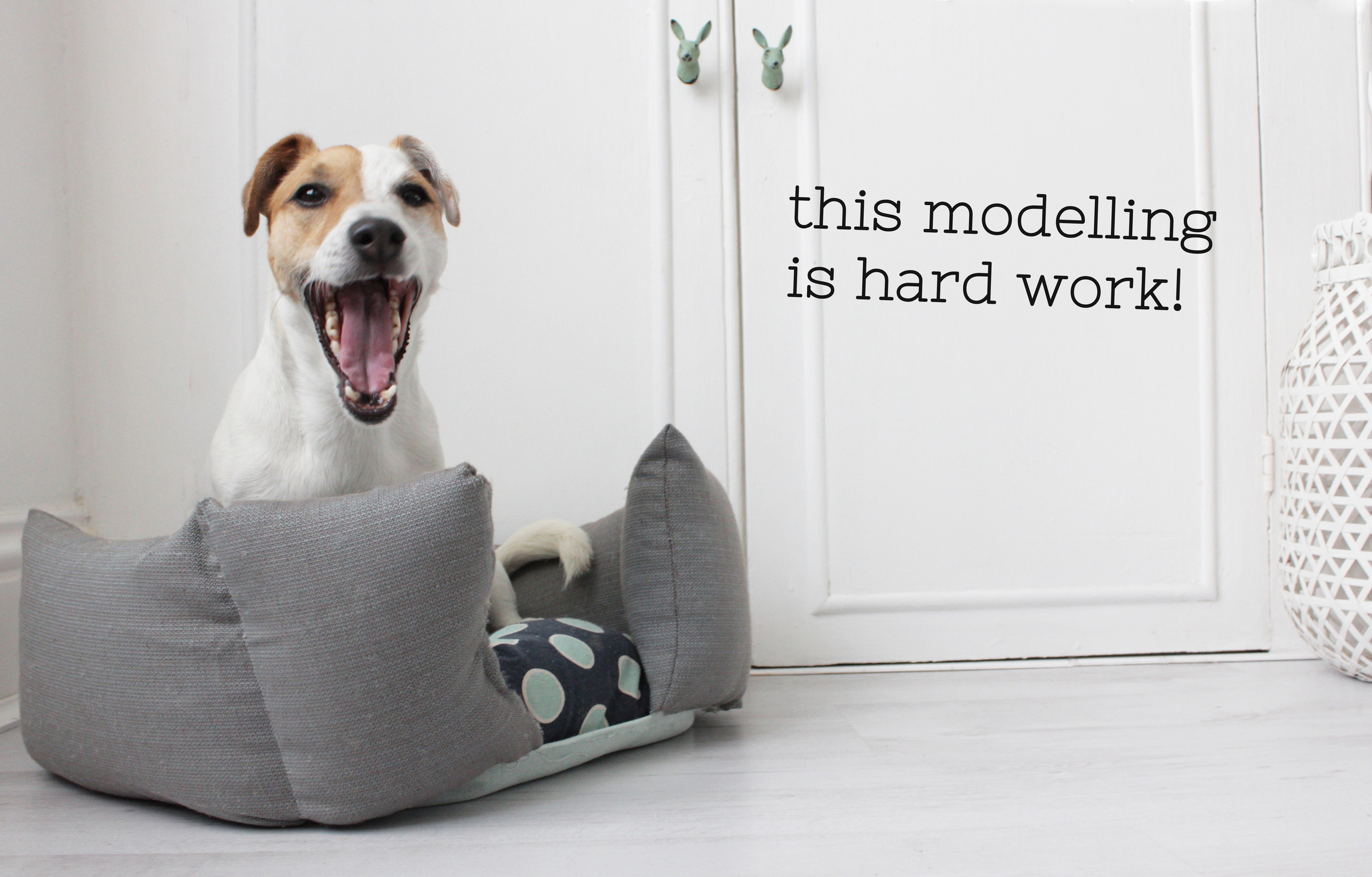 make your own dog basket, tutorial by Hester's handmade Home