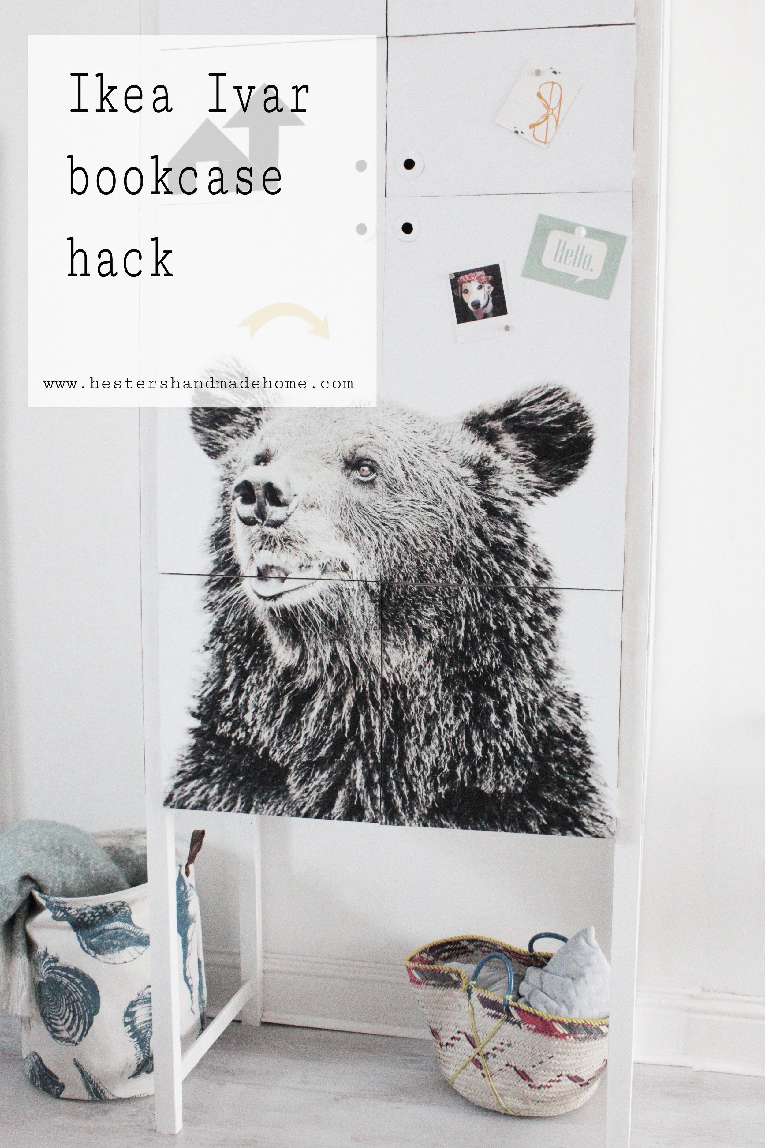 Ikea Ivar bookcase hack tutorial by Hester's handmade Home