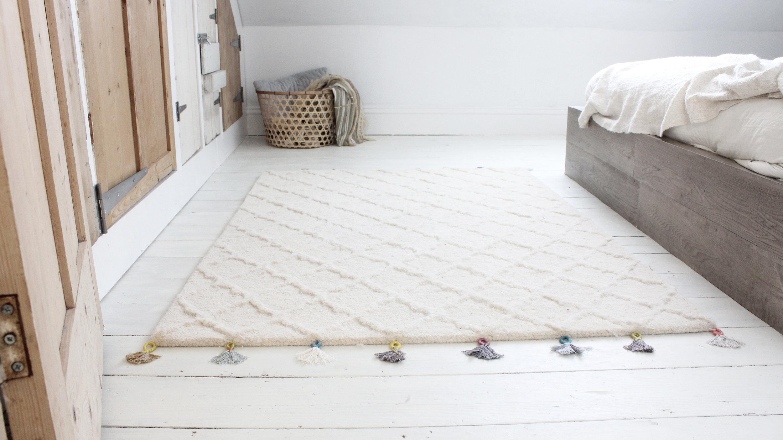 Tassel rug tutorial by Hesters Handmade Home