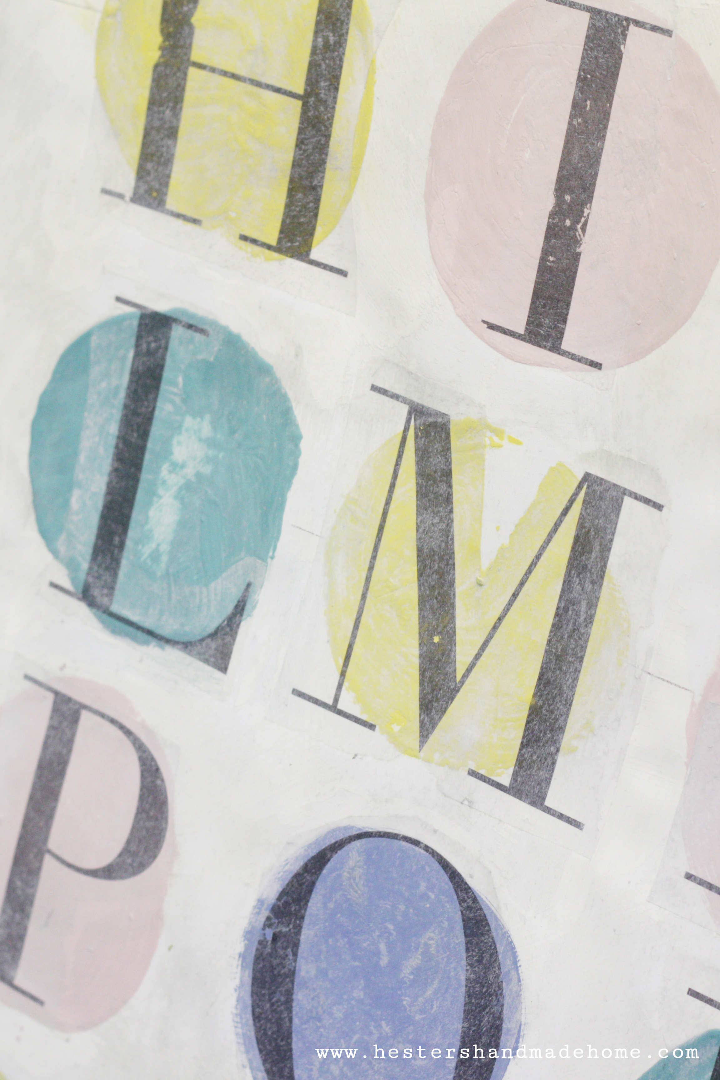 Detail of a piece in Annie Sloan's studio, photo by www.hestershandmadehome.com