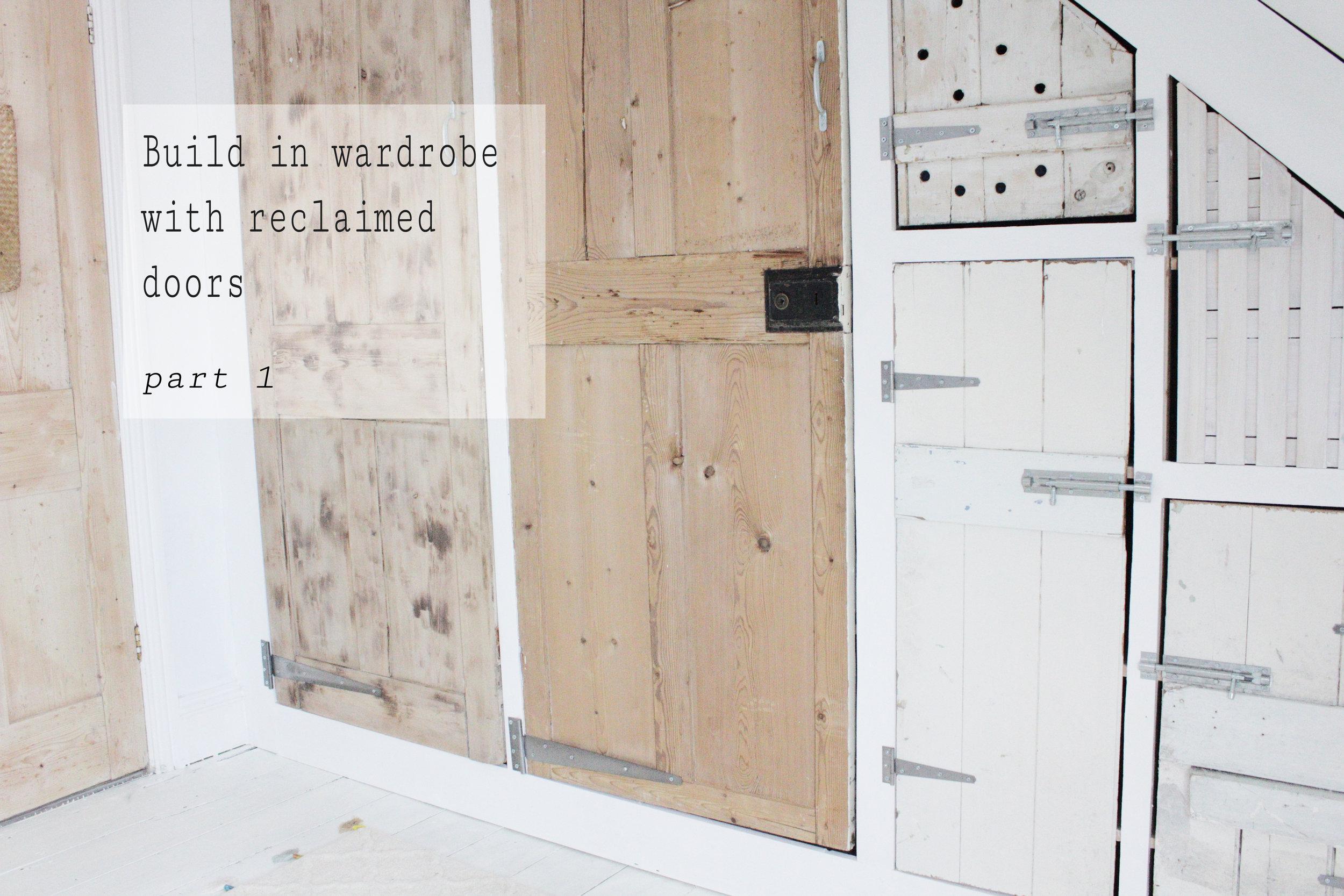 build a wardrobe using an Ikea Ivar unit and reclaimed doors
