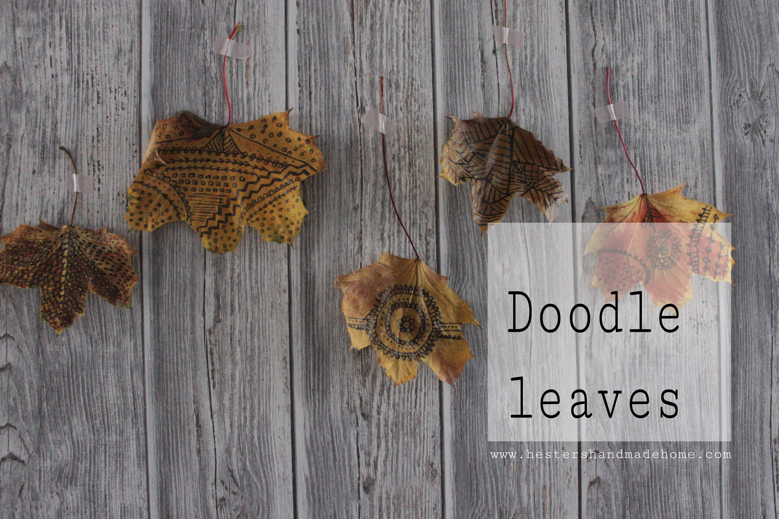 doodle leaves, tutorial by www.hestershandmadehome.com