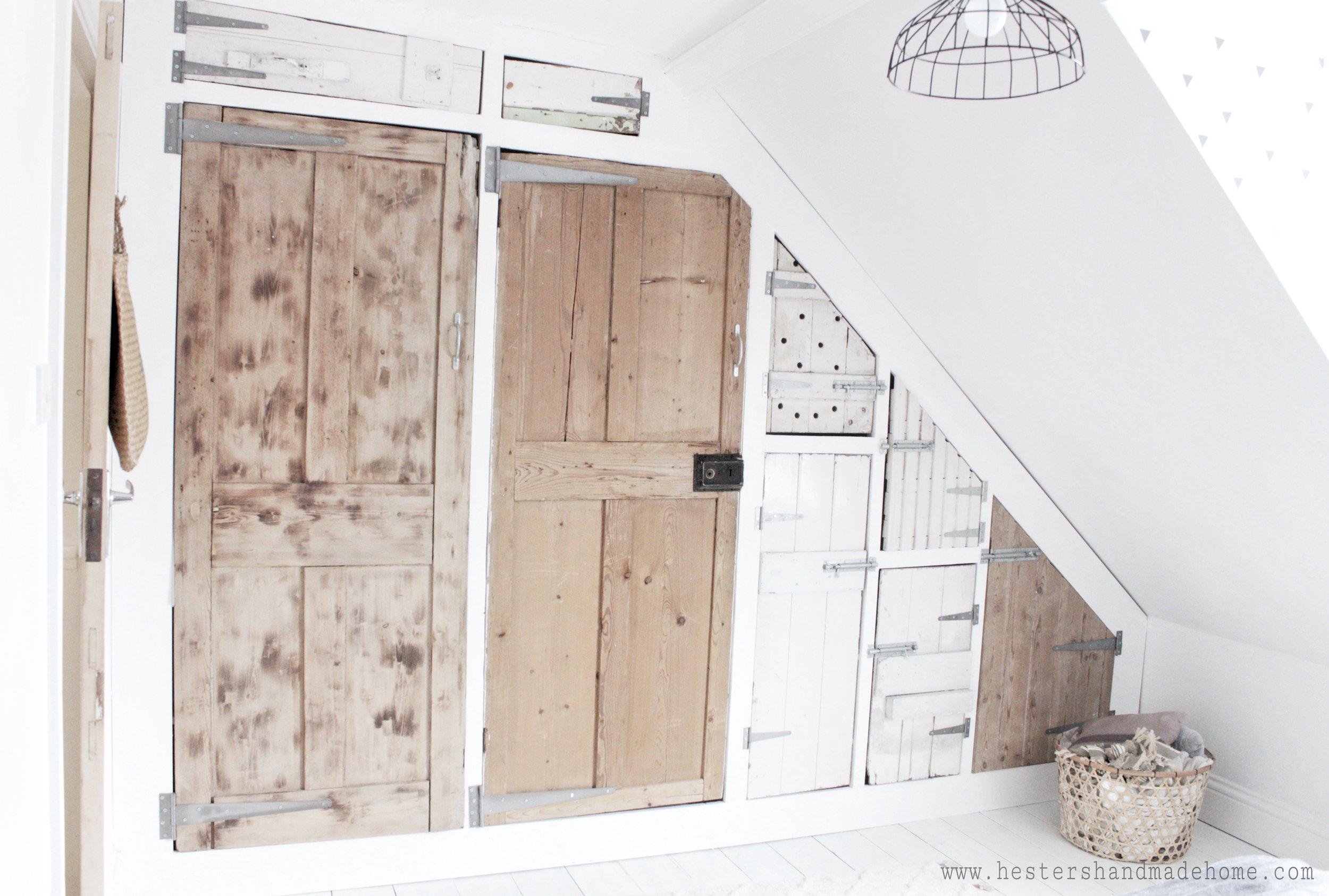 Wardrobe diy tutorial using Ikea and reclaimed doors, tutorial by Hesters Handmade Home