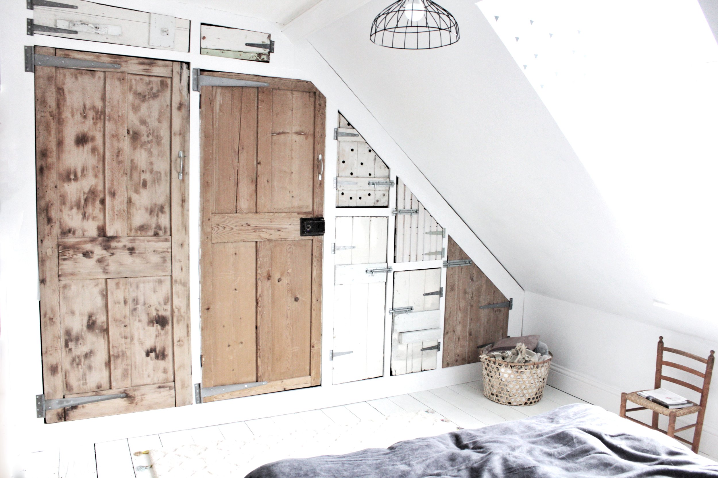 Build your own wardrobe using an Ikea base and reclaimed doors, tutorial by Hesters Handmade Home