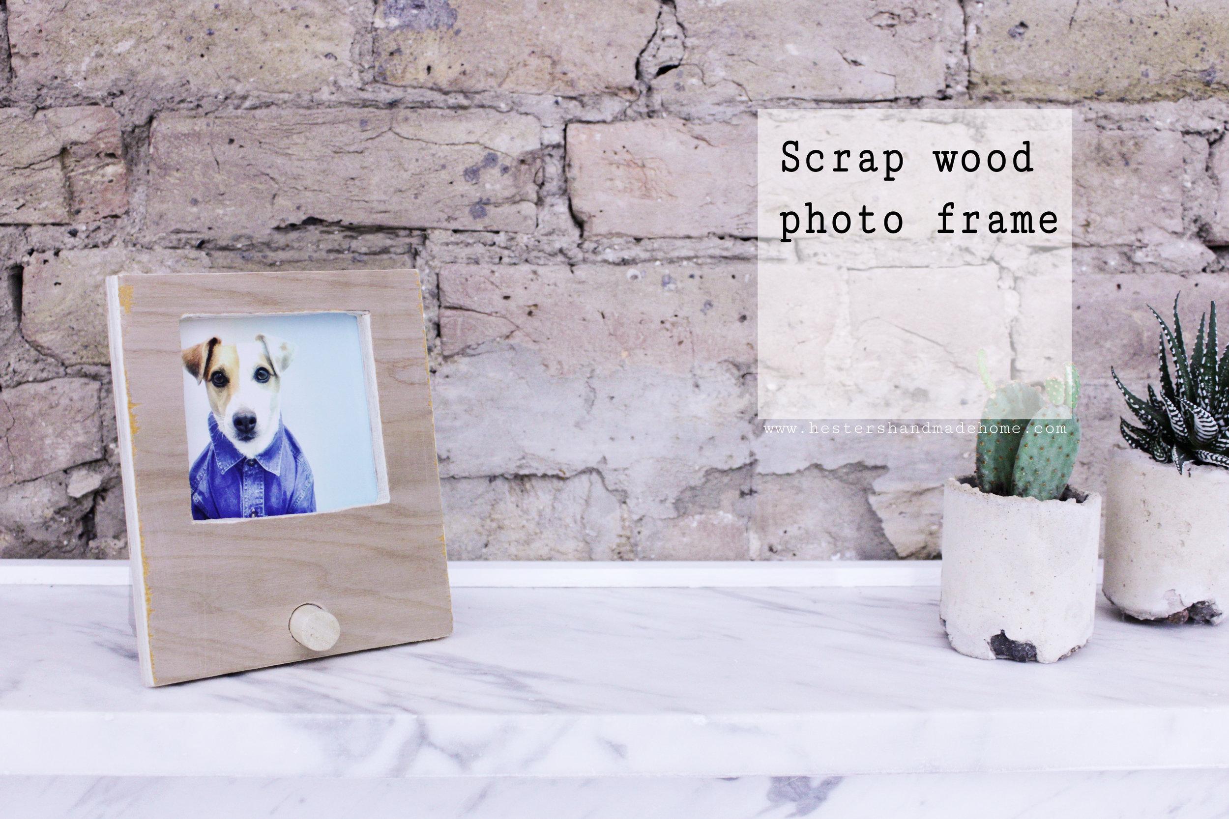 scrapwood photo frame tutorial, great homemade gift for Christmas