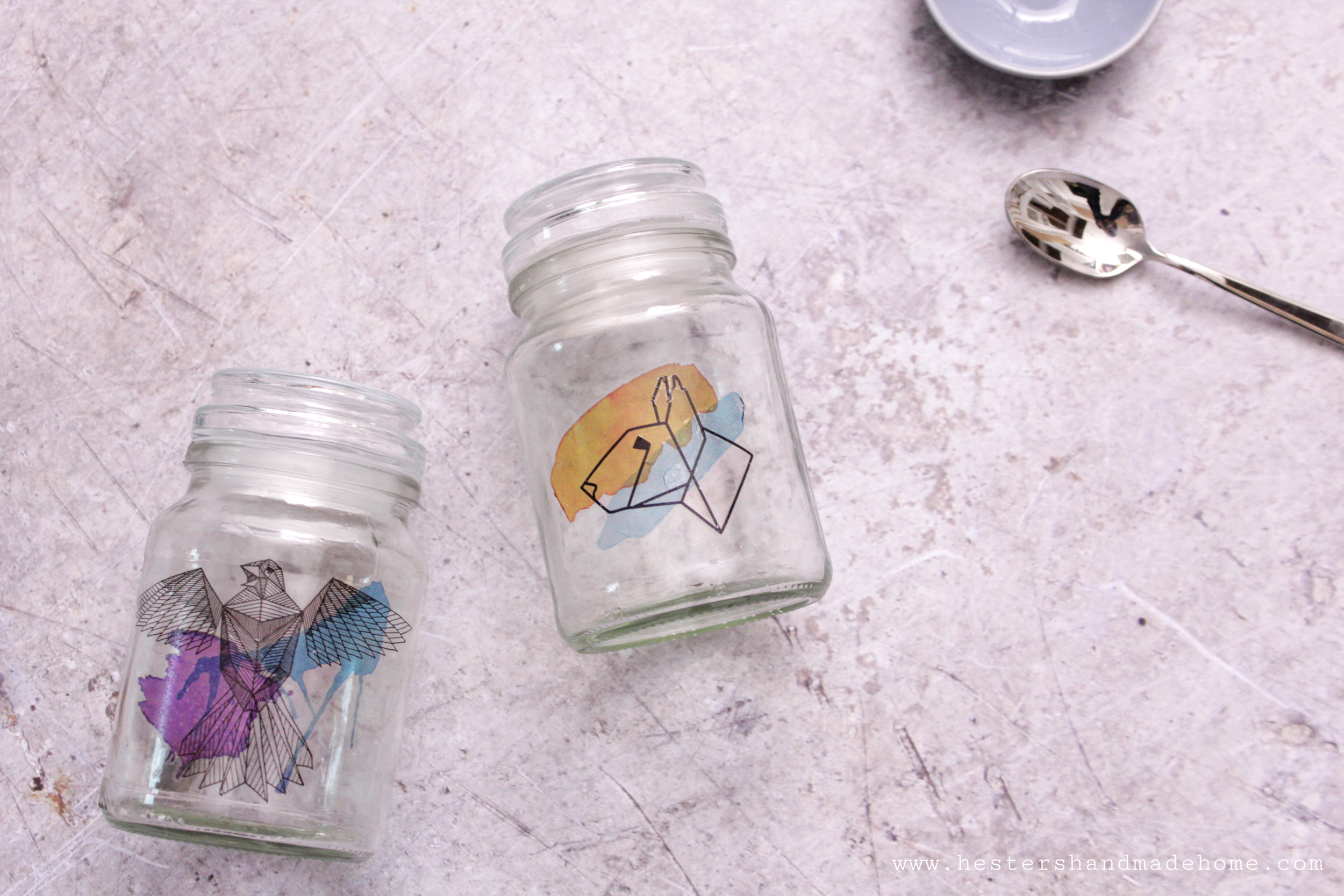 Tattoed jars tutorial by www.hestershandmadehome.com