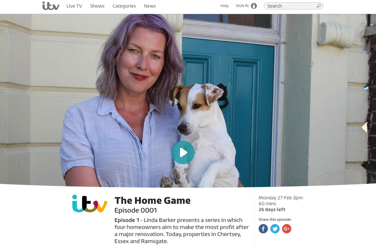 hester on itv's the home game