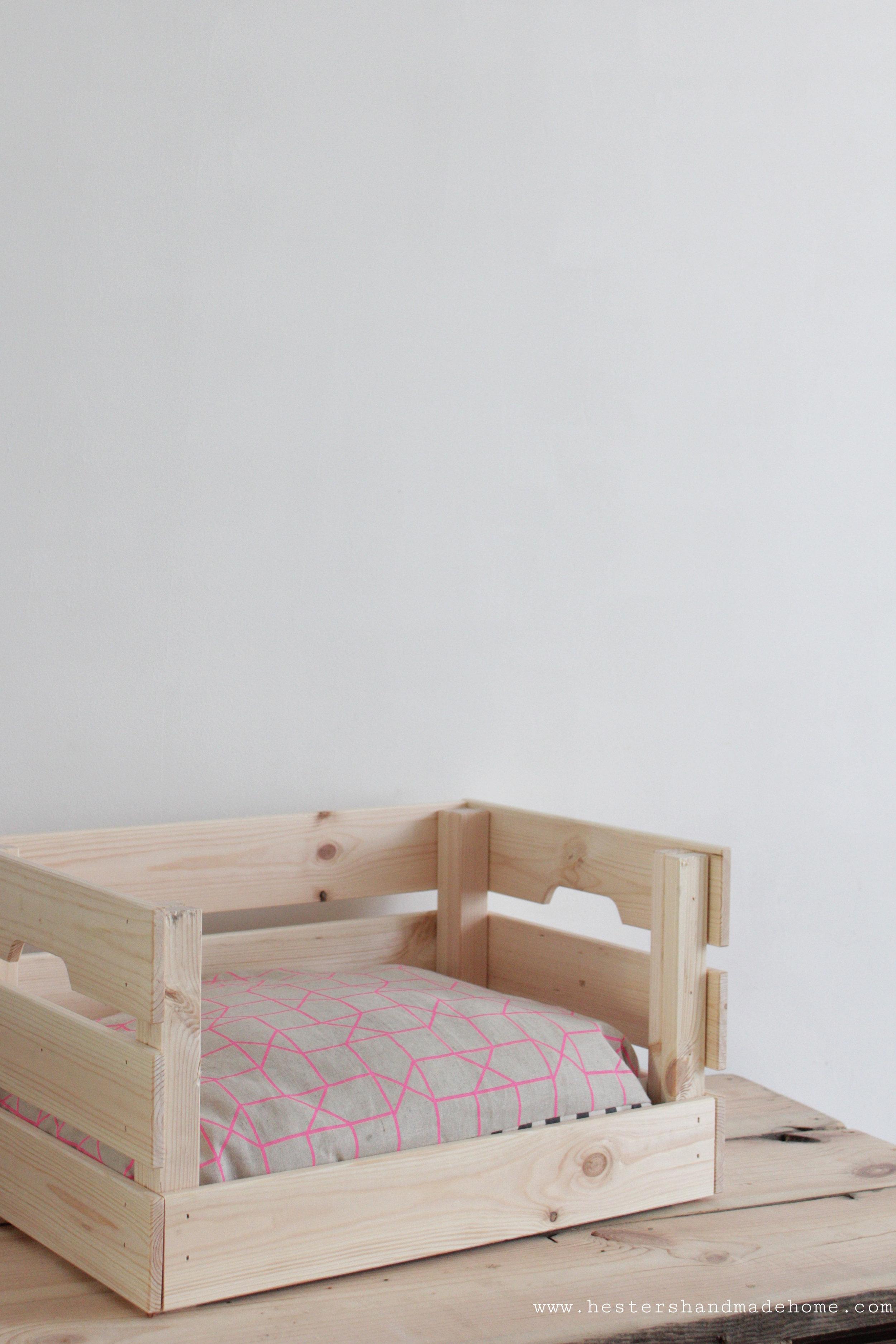 Ikea pet bed hack by www.hestershandamdehome.com