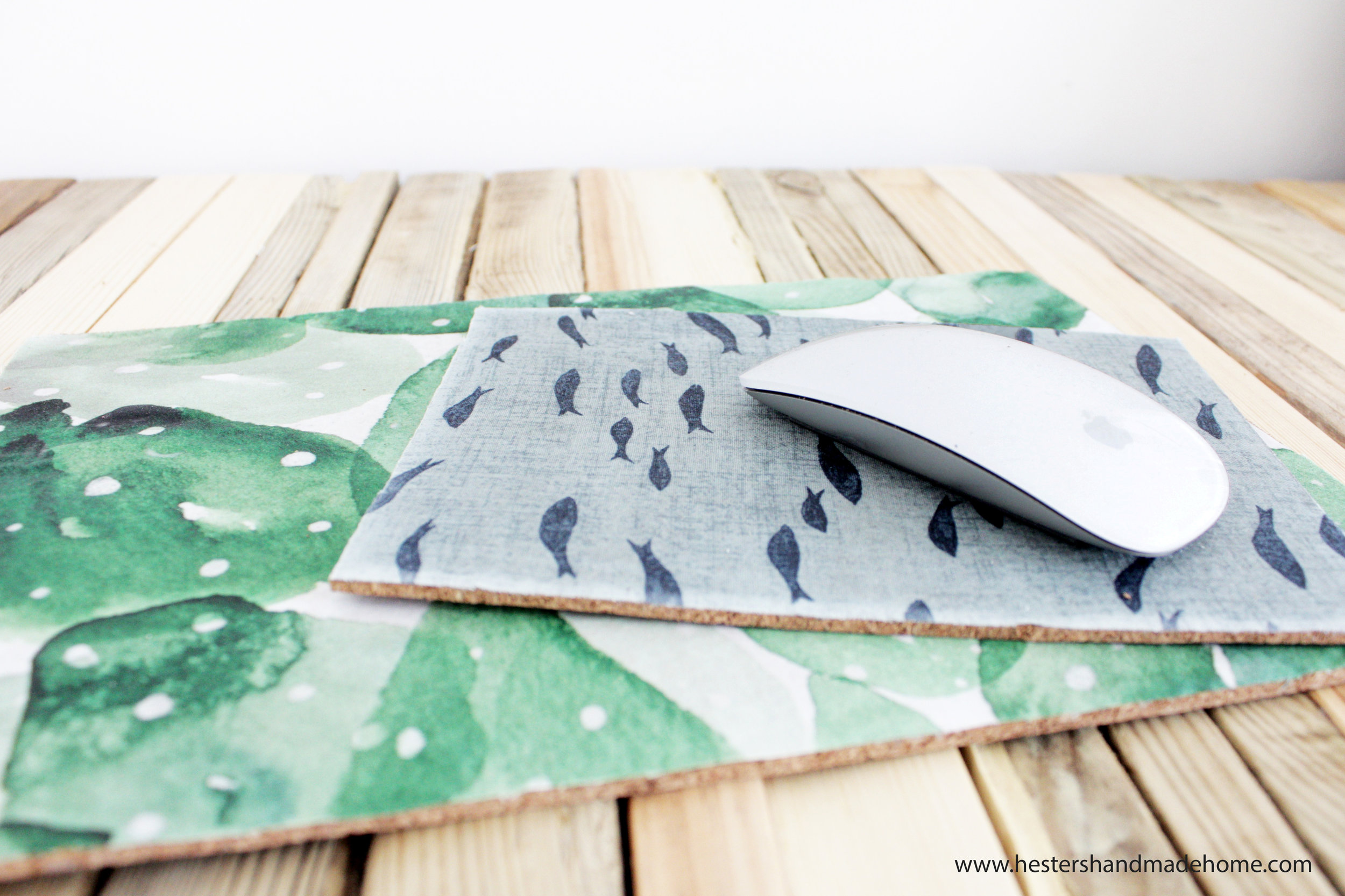 make your own maouse mat by Hesters handmade home