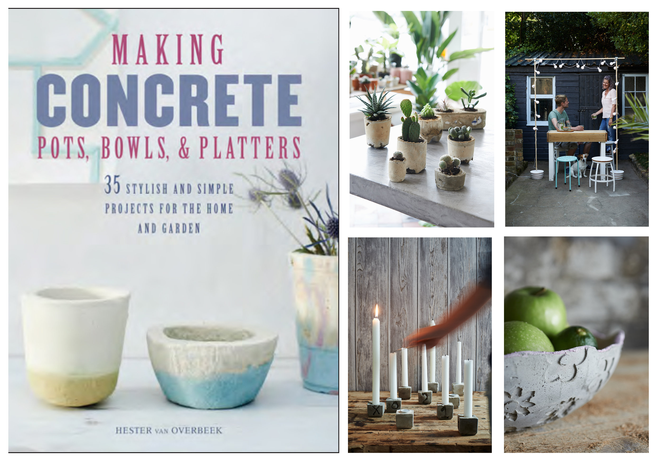 Making concrete pots, bowls & platters got published February 2017. - It's available to purchase in your local book store or online (ISBN 978-178294140)