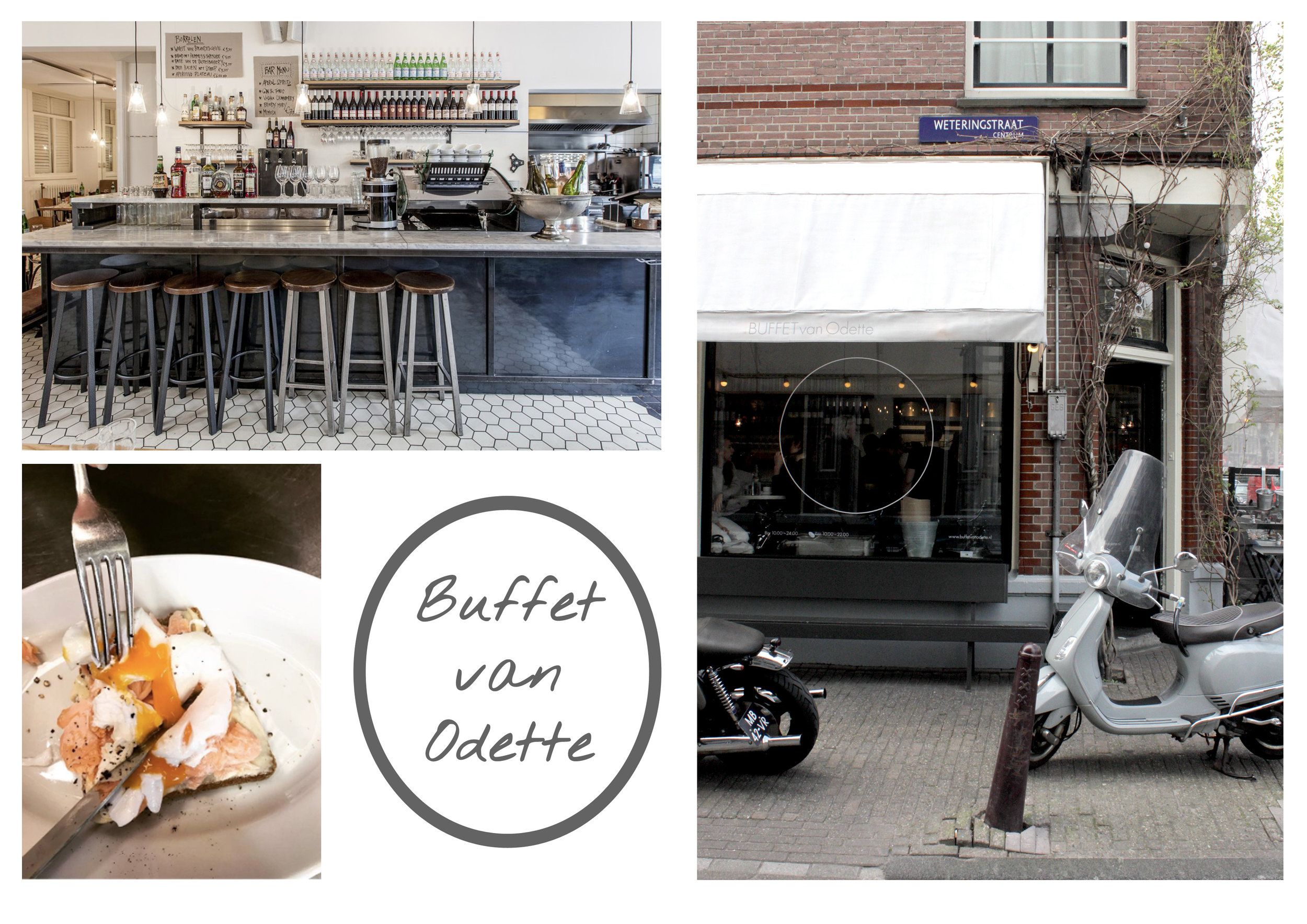 Photo's top left and bottom left by  Buffet van Odette