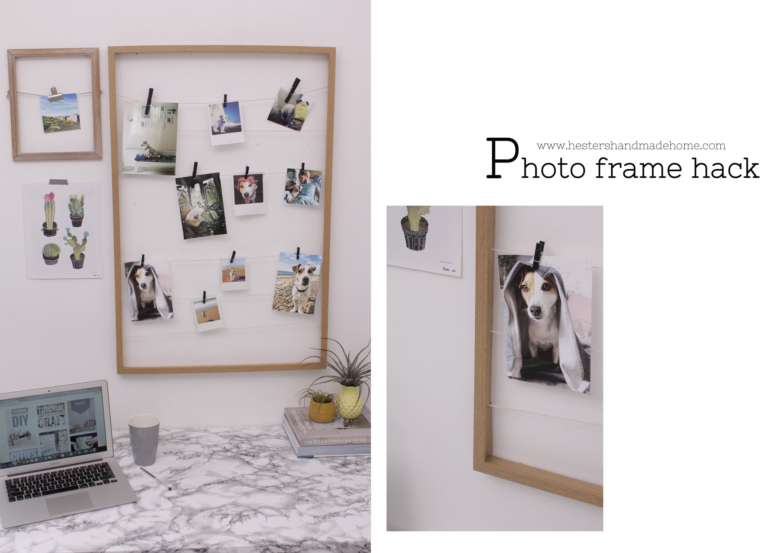 Photo frame hack by www.hestershandmadehome.com