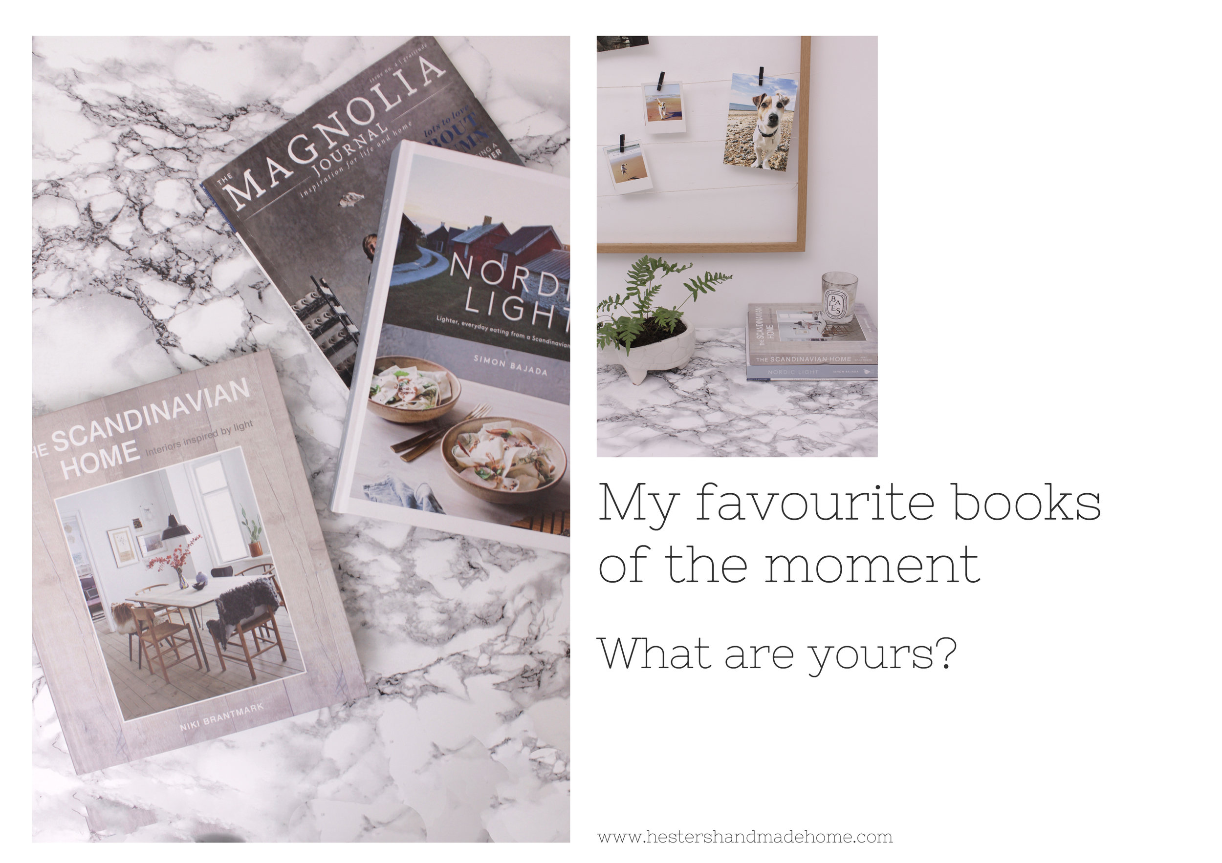 My favourite books by www.hestershandmadehome.com