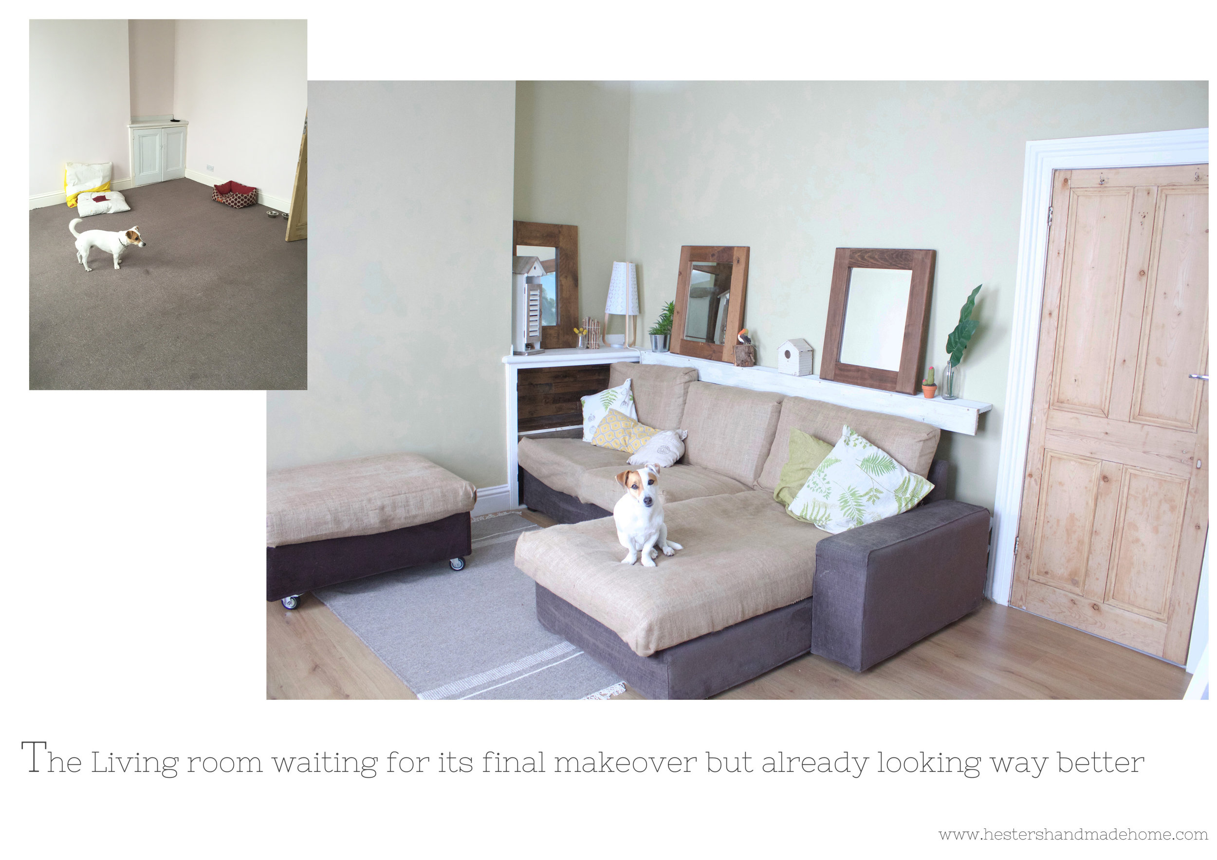 Living room makeover by www.hestershandmadehome.com