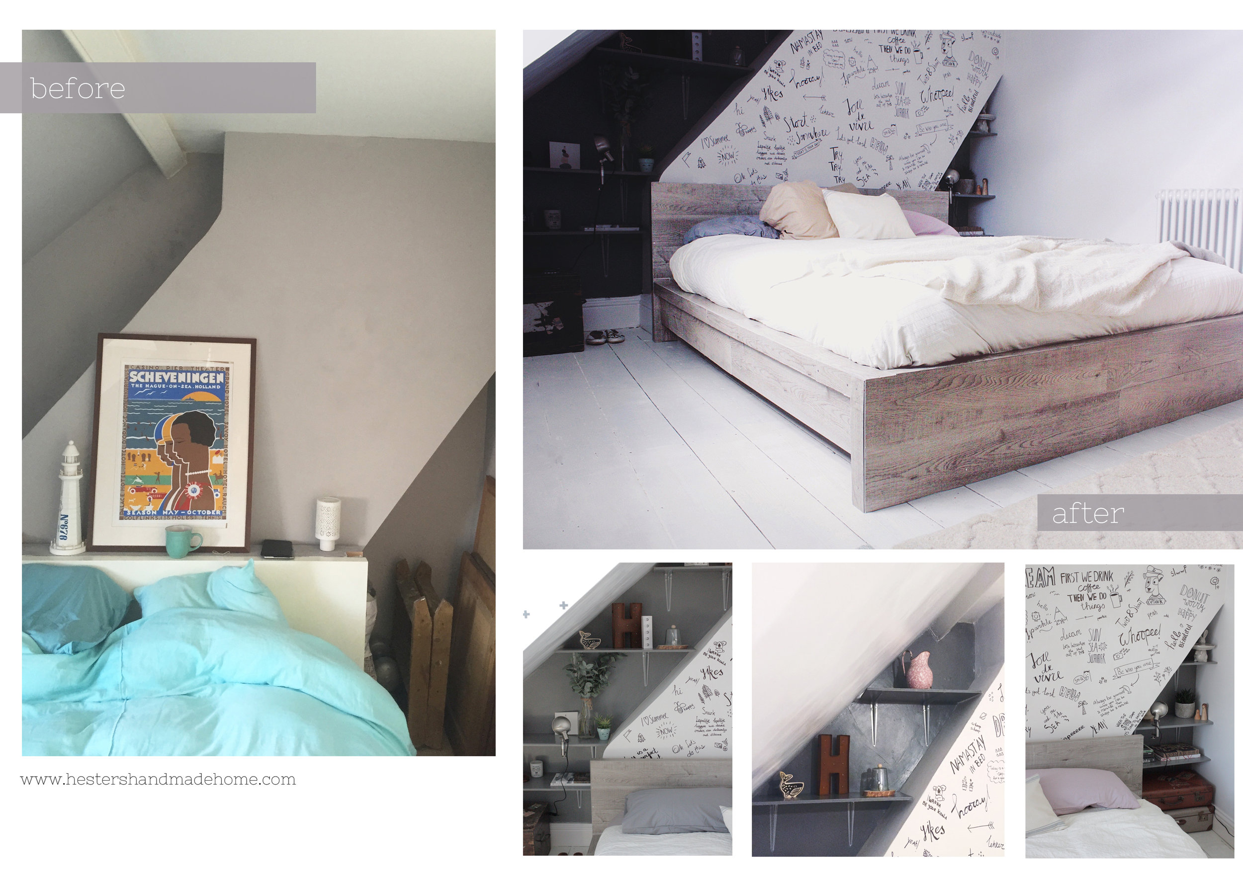 Bedroom makeover by www.hestershandmadehome.com