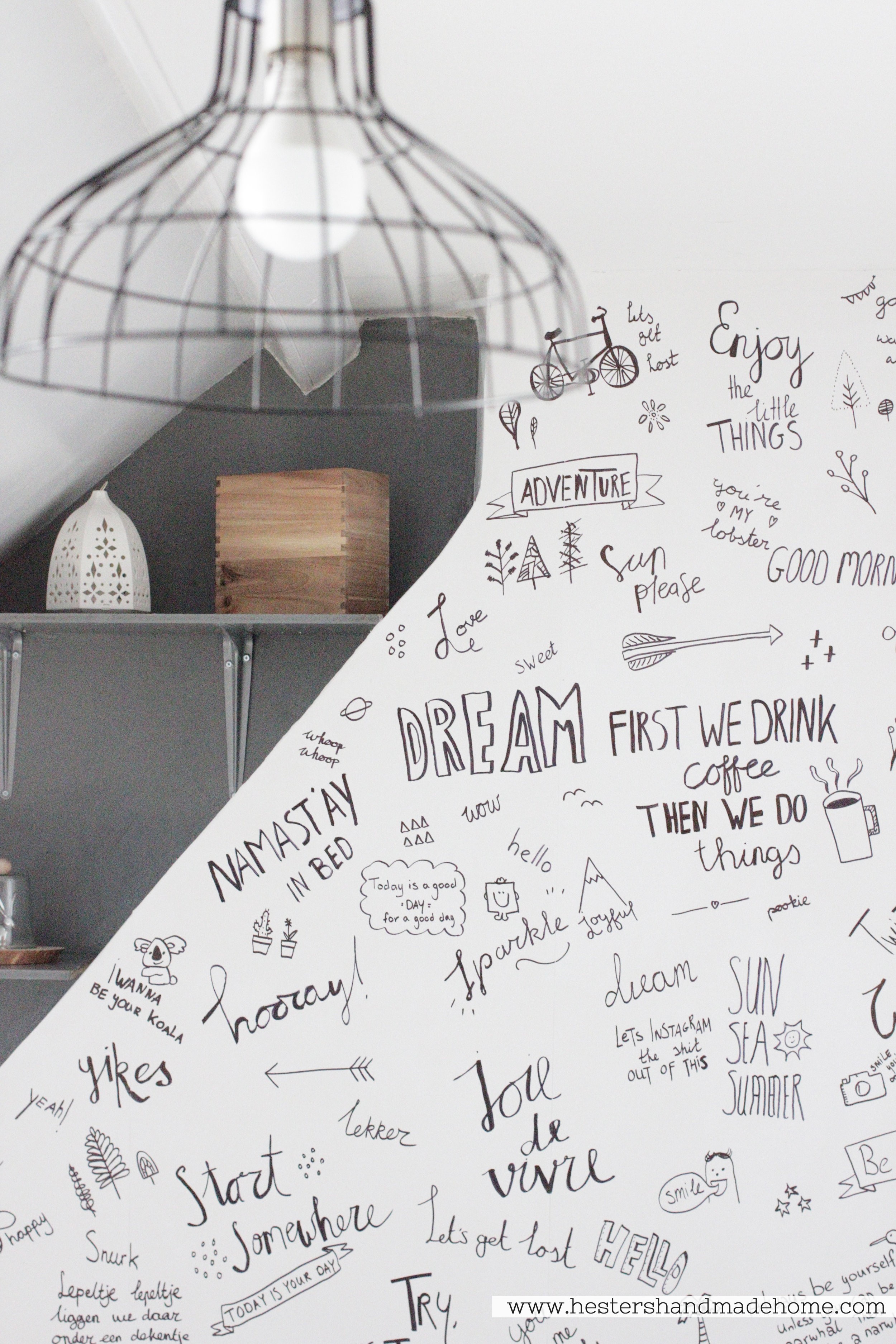 make your own wallpaper by www.hestershandmadehome.com