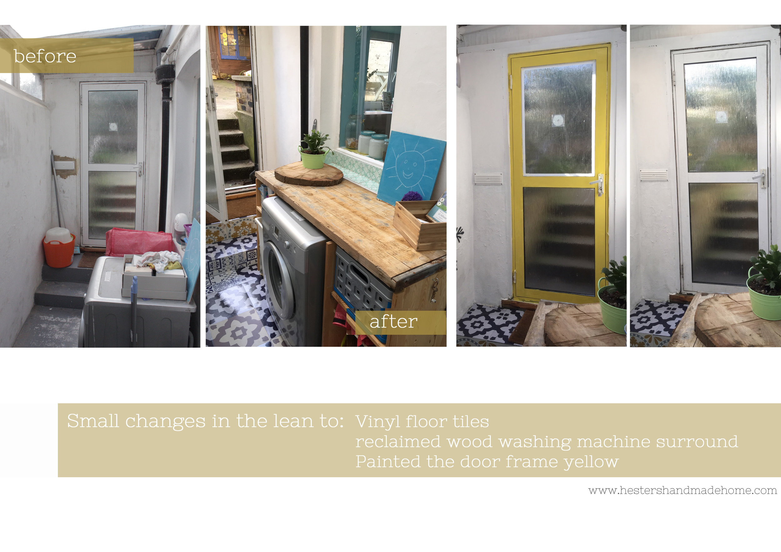 Lean to makeover by www.hestershandamdehome.com