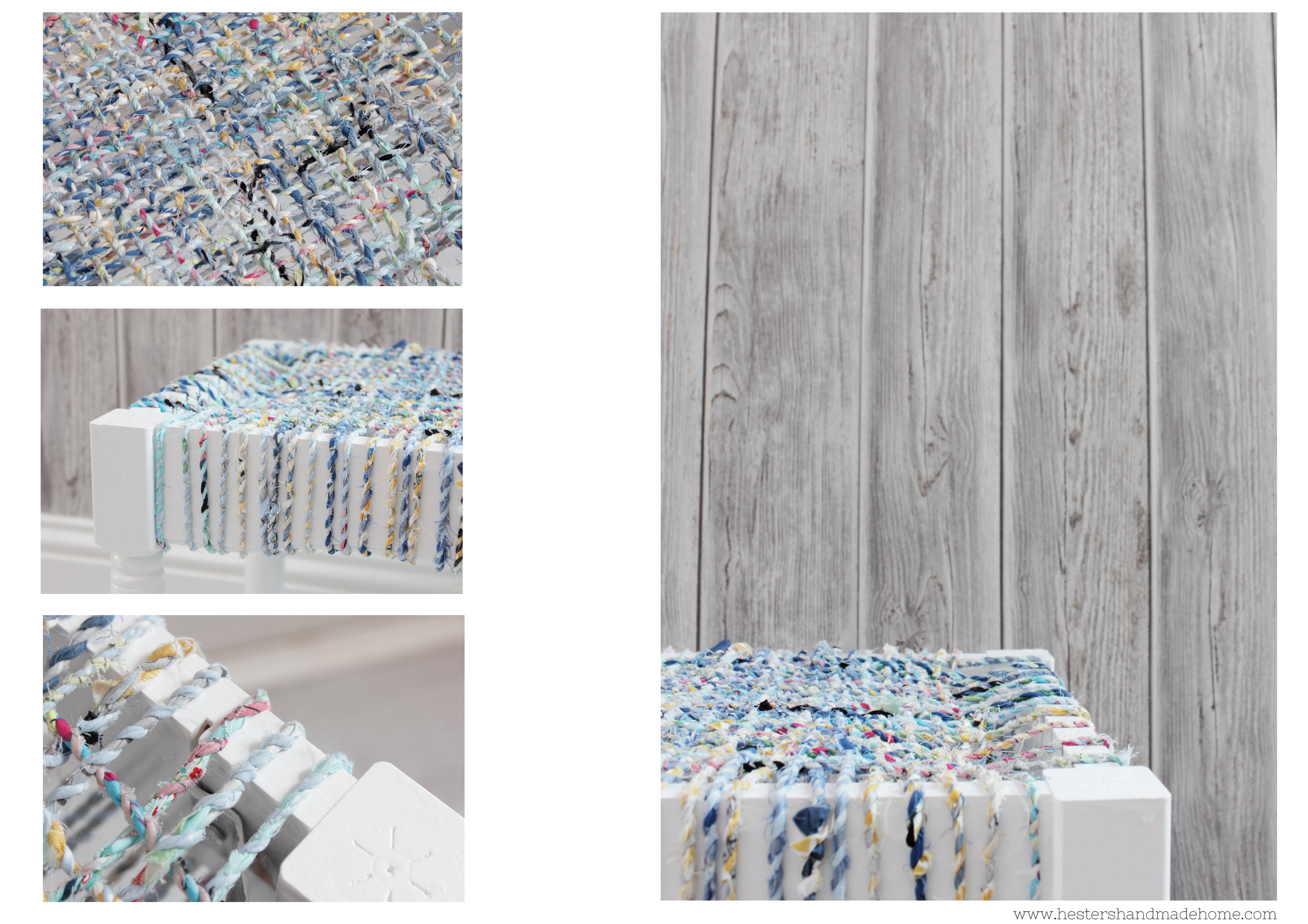 Make yarn from fabric scraps, tutorial by www.hestershandmadehome.com