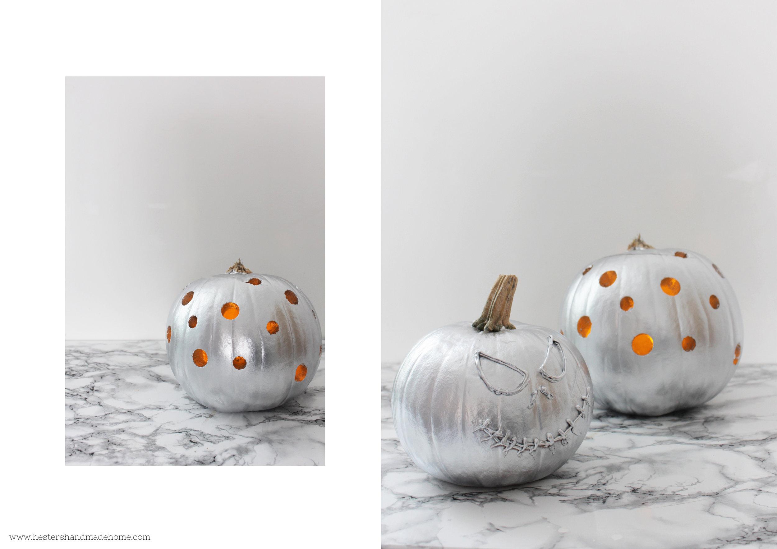 Pumpkin decorating by www.hestershandmadehome.com