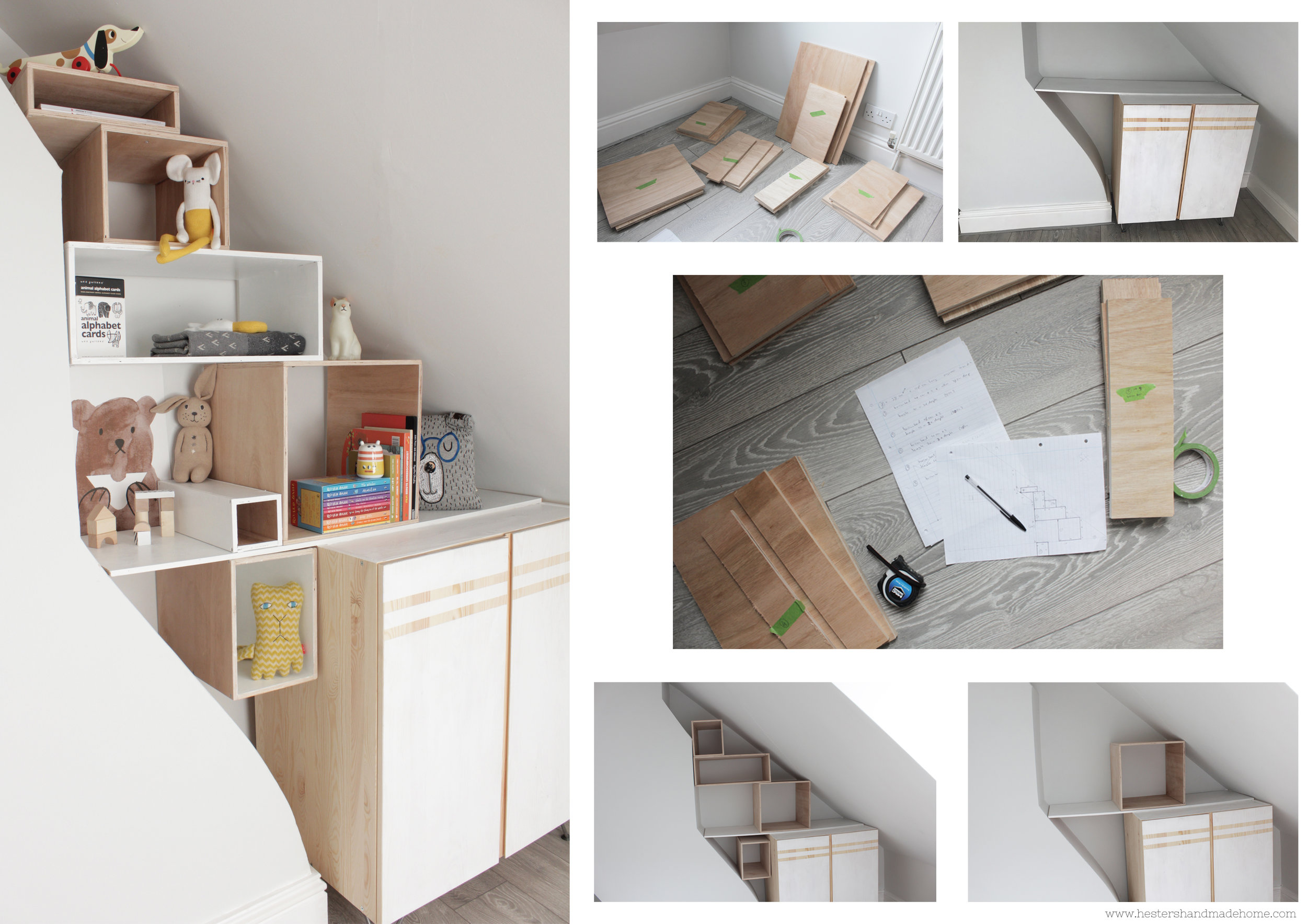 How to build an alcove bookcase by www.hestershandmadehome.com