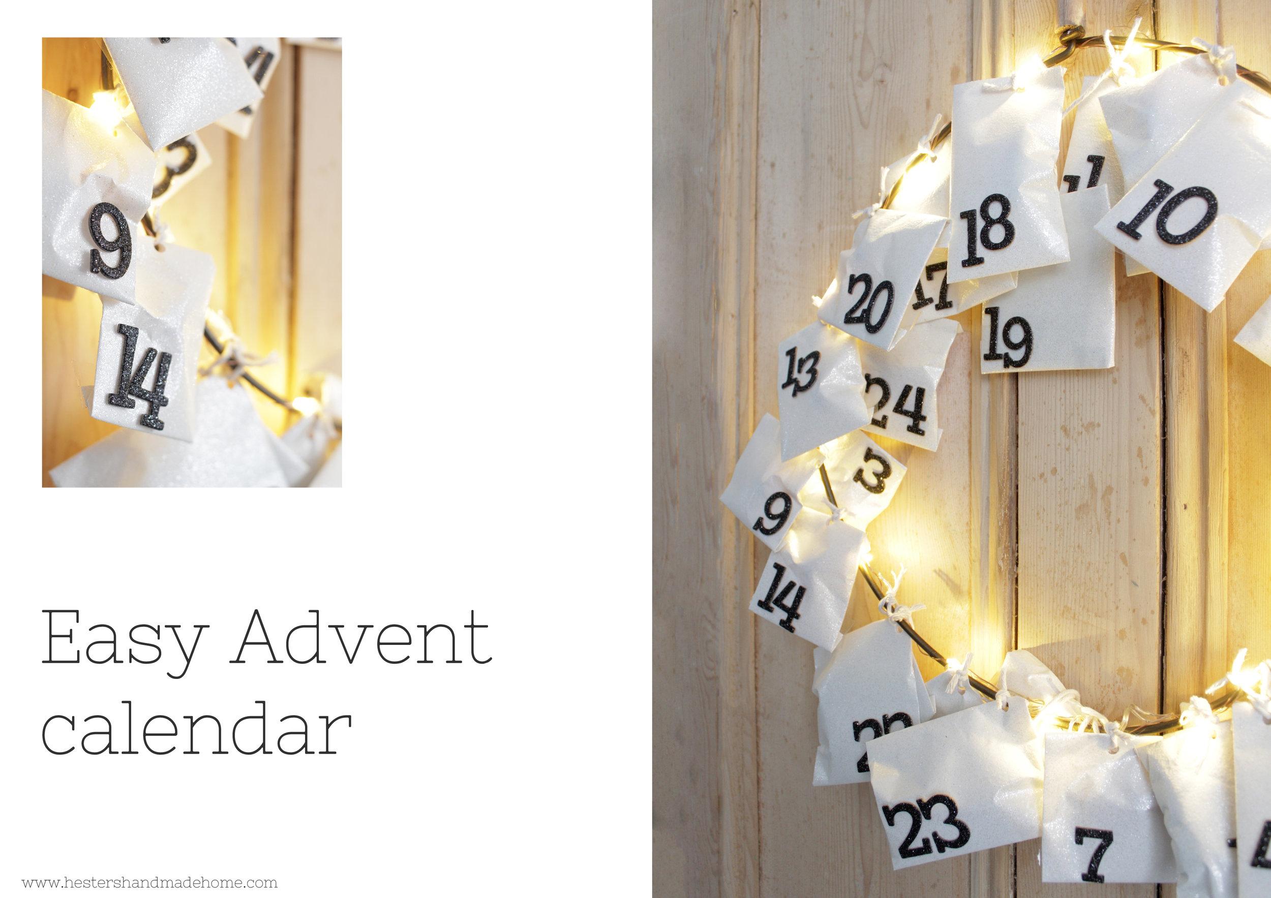 Easy make advent calendar by www.hestershandmadehome.com