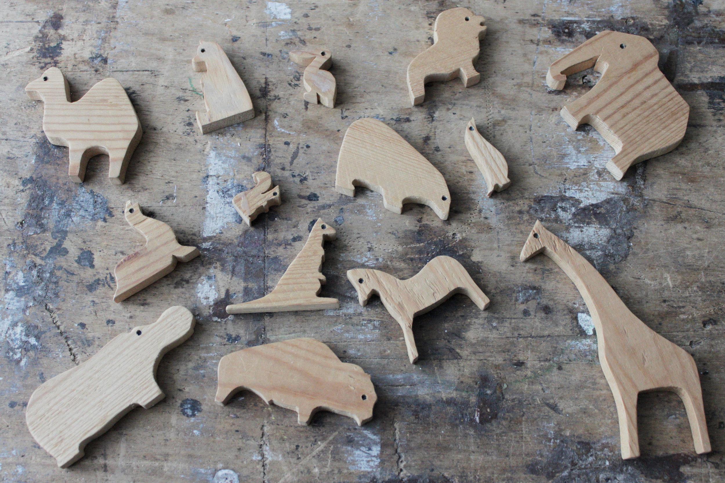 wooden animals www.hestershandmadehome.com