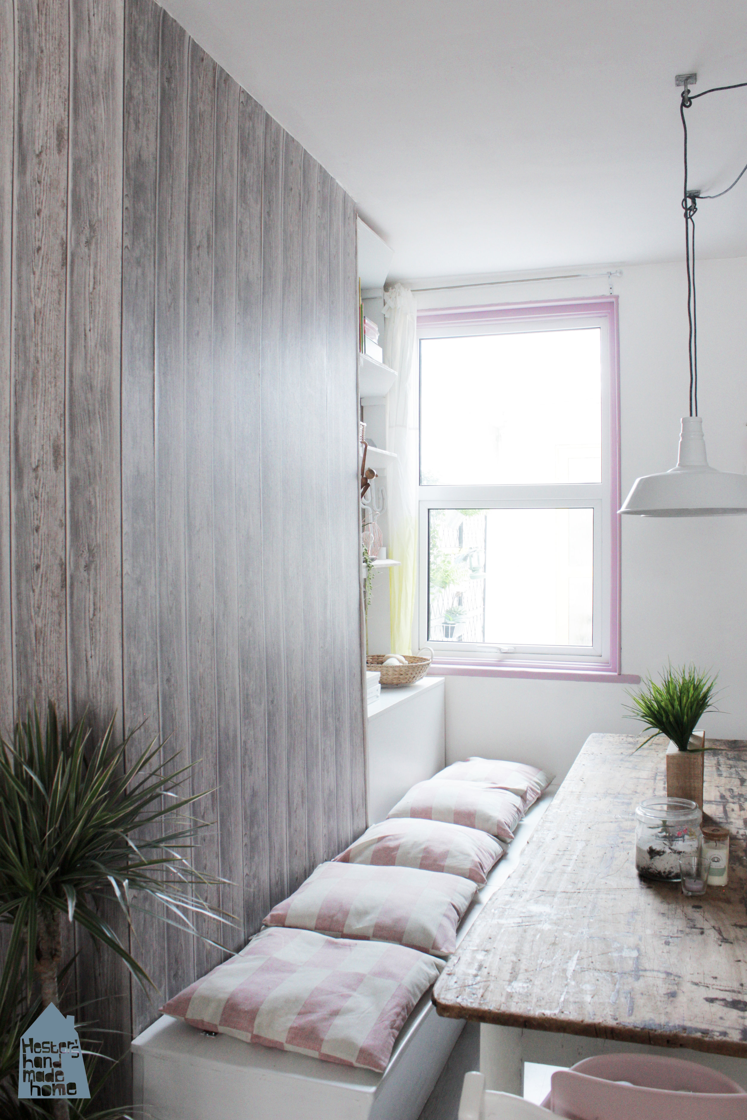 Add a pop of colour to your interior with a painted window www.hestershandmadehome.com