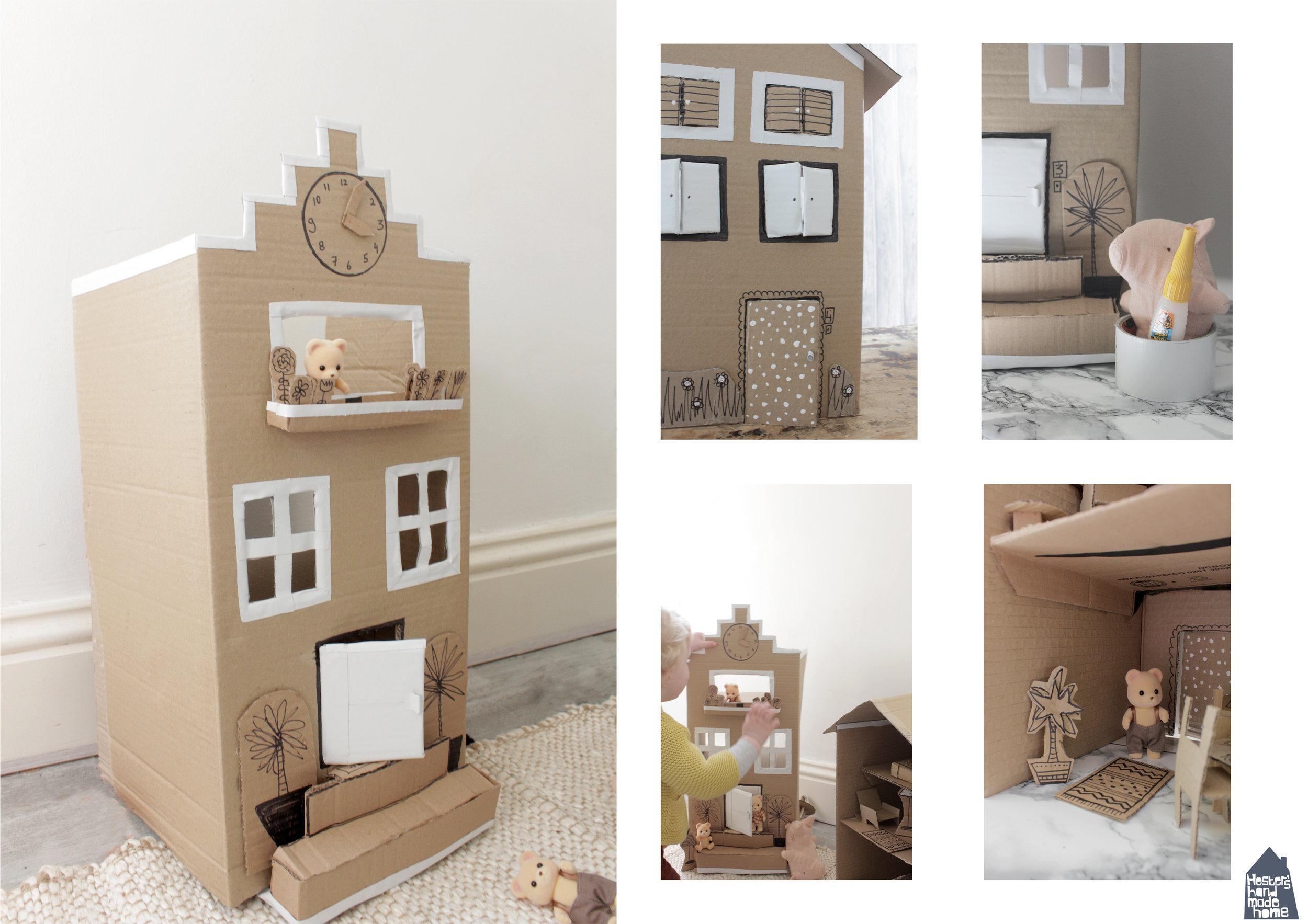 Cardboard dolls house tutorial by Hesters Handmade Home
