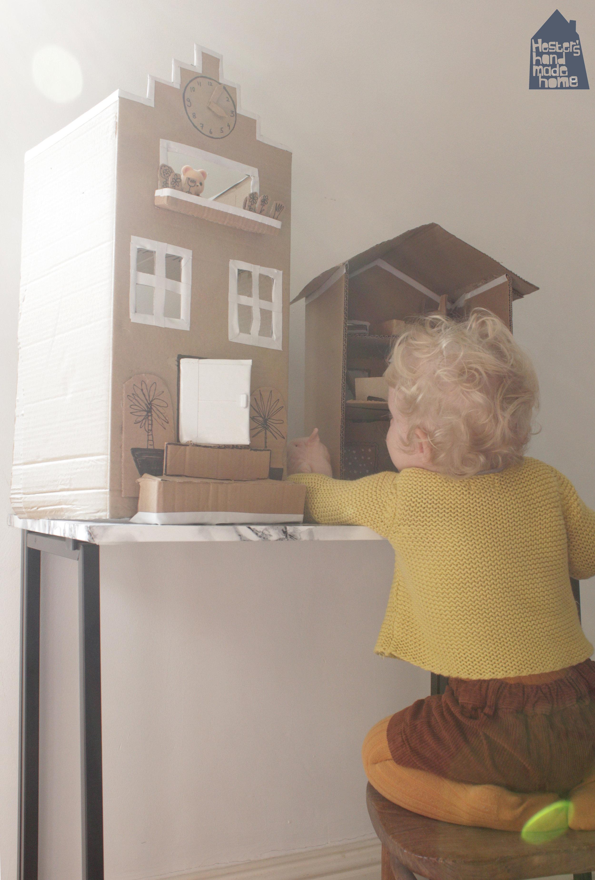 Cardboard dolls house by Hester's Handmade Home